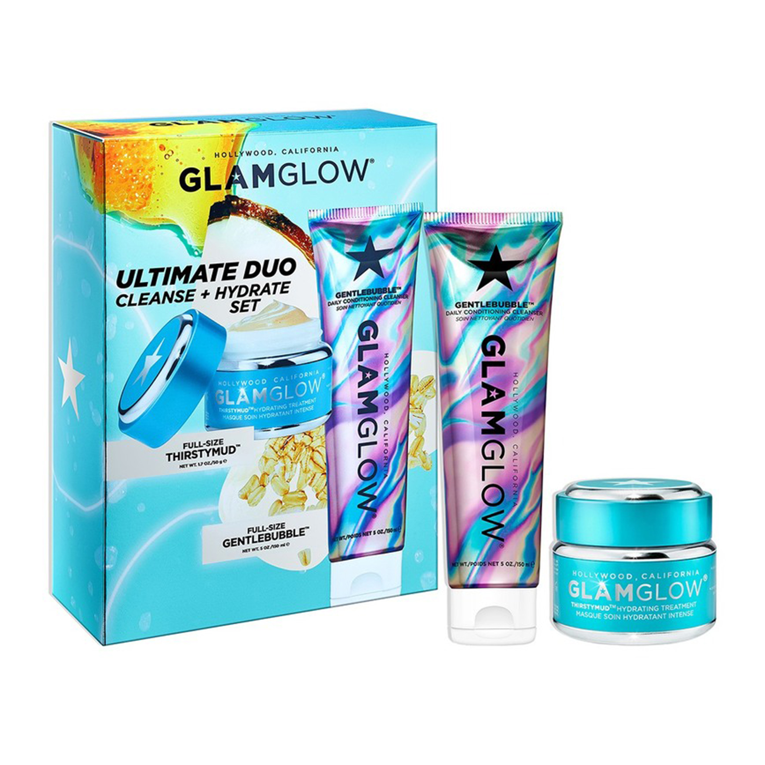 Glow Glam Ultimate Duo Cleanse Hydrate Thirstymud Set