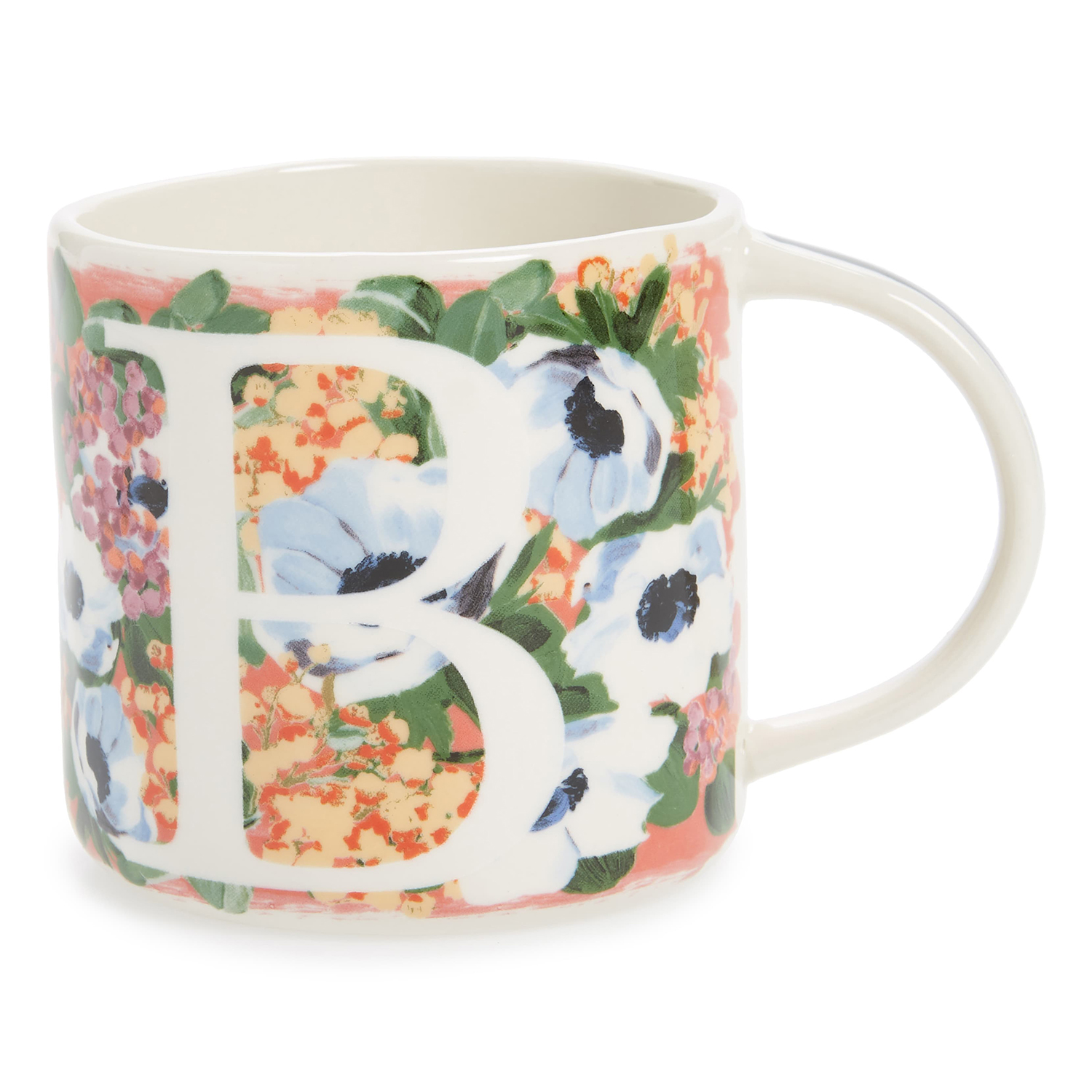 Anthropologie Home Dawn Monogram Mug