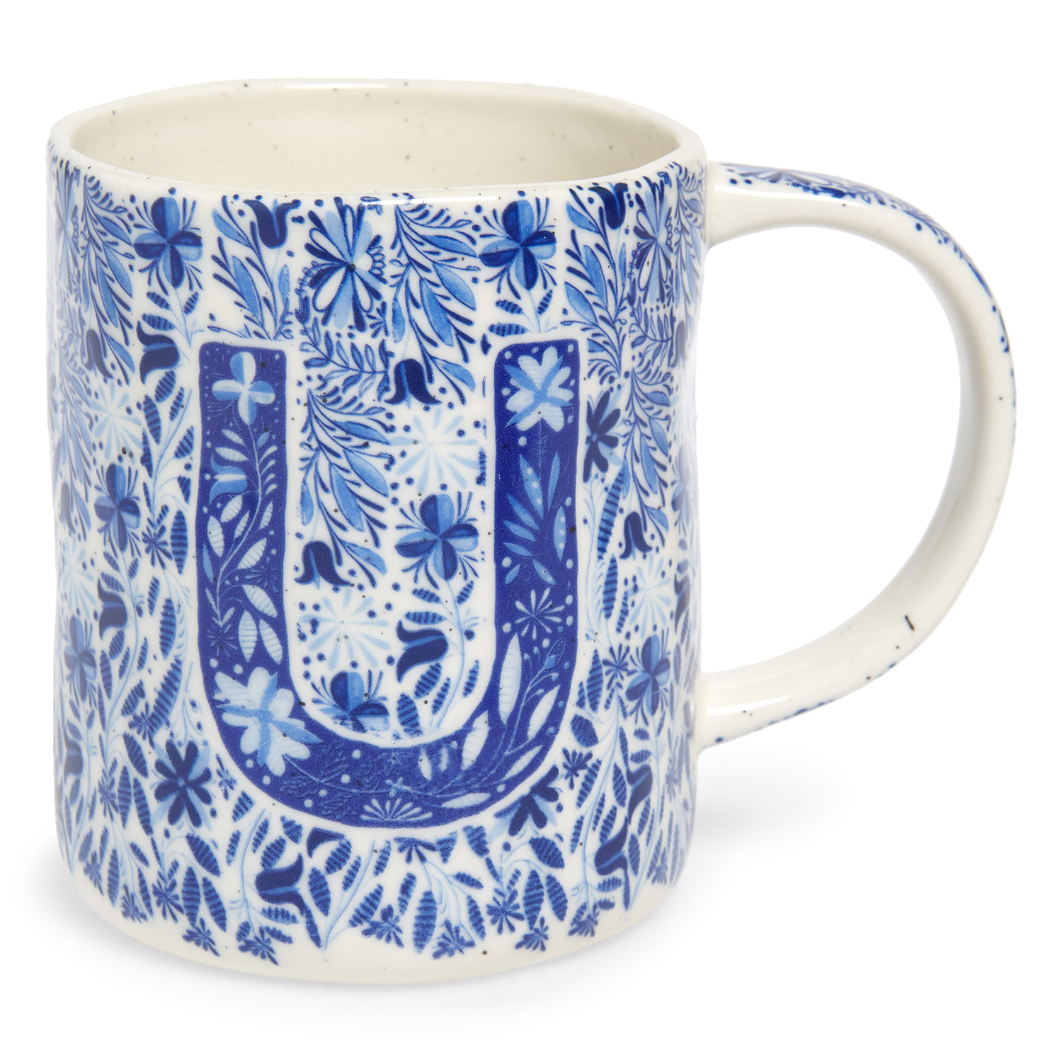 Anthropologie Home Folksong Monogram Mug
