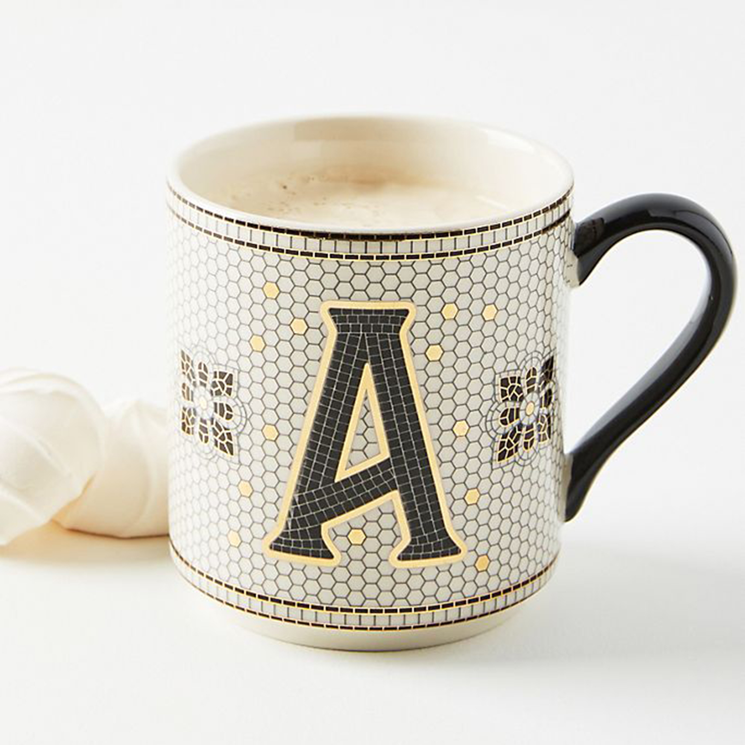 Tiled Margot Monogram Mug