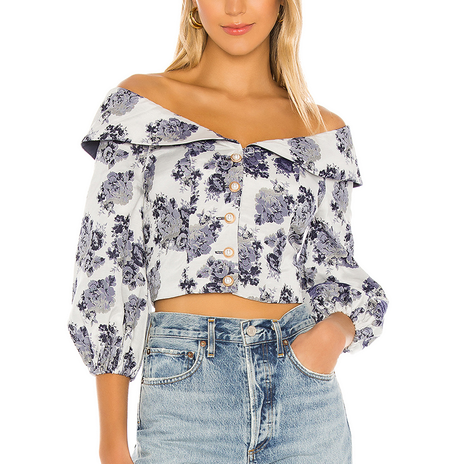 MAJORELLE Pippa Top in French Blue