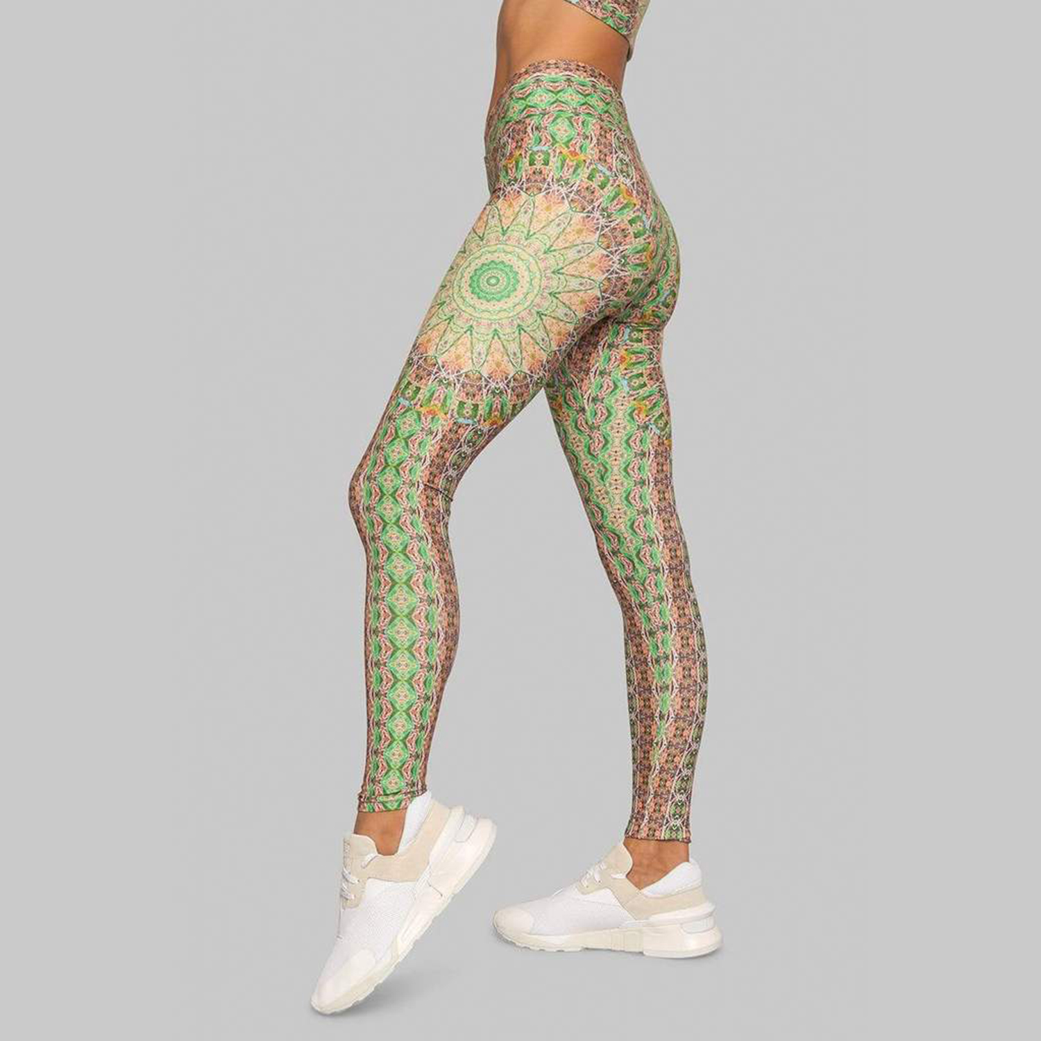 Wolven Fauna Ruched Crossover Legging