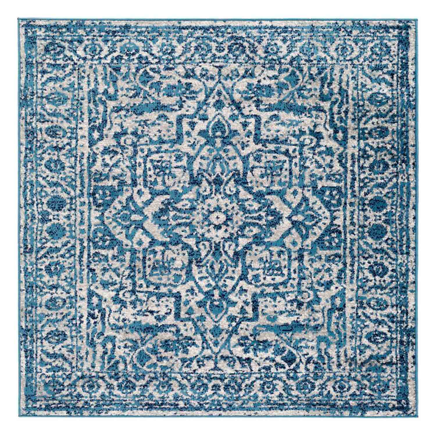 Kelly Clarkson Home Bonney Oriental Sky Blue/Light Gray Area Rug