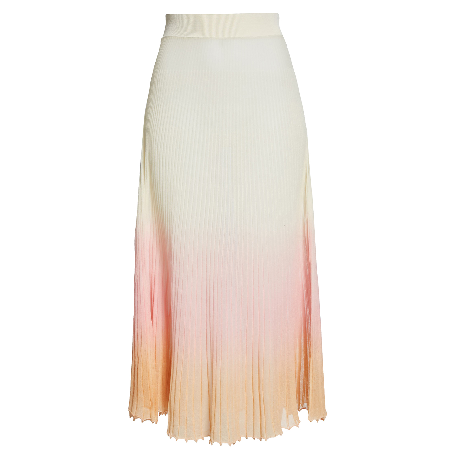Jacquemus Helado Pleated Ombré Maxi Skirt