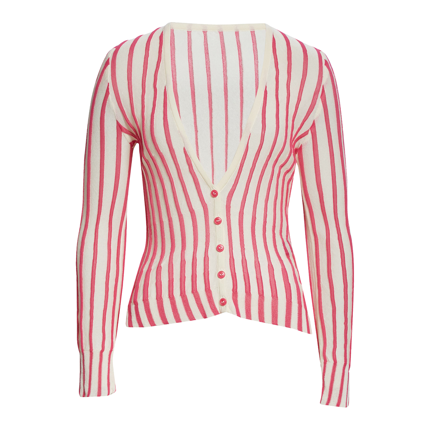 Jacquemus Manosque Stripe Cotton Blend Cardigan