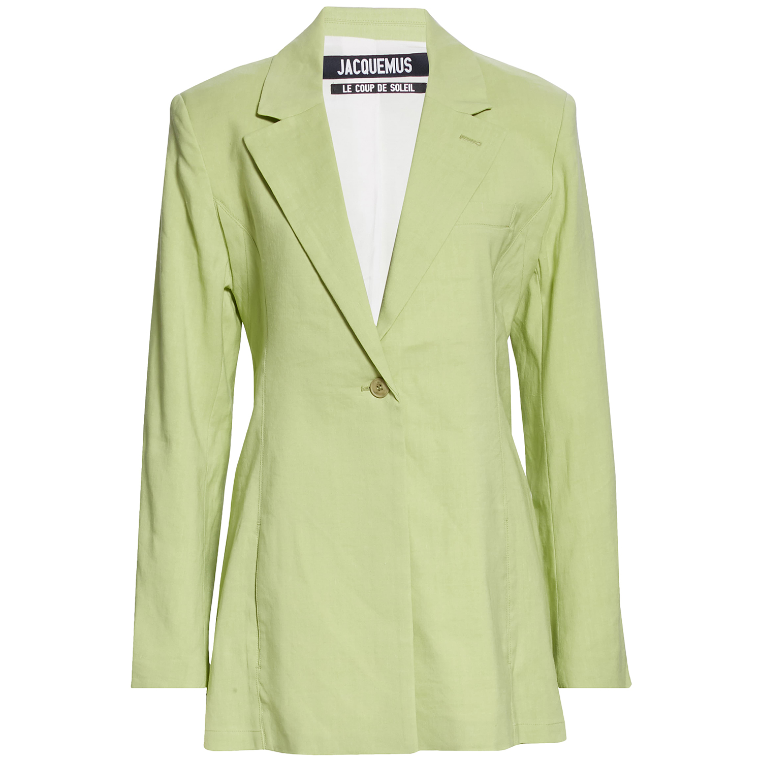 Jacquemus Tablier Back Tie Hemp & Wool Blend Blazer