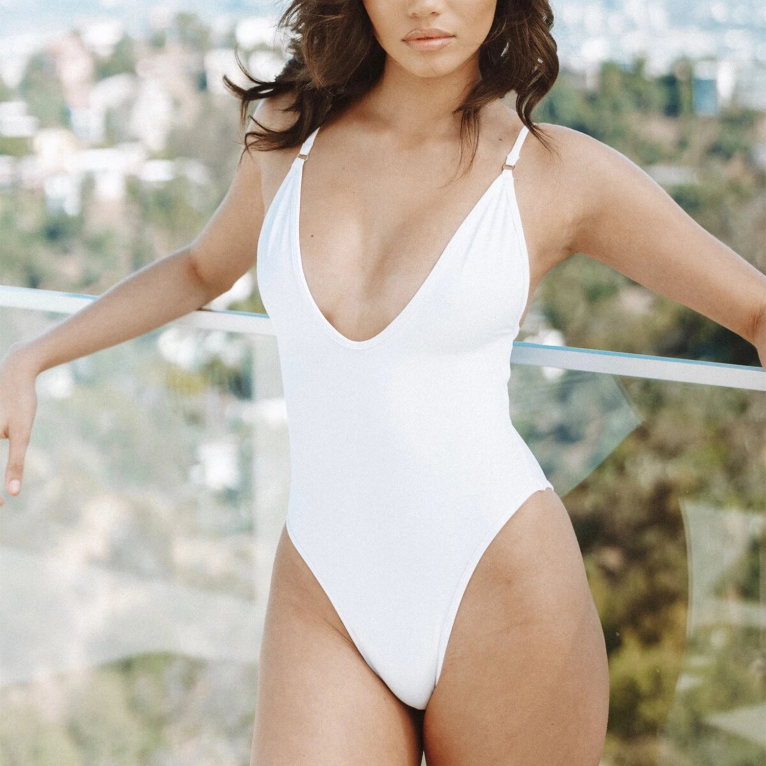 So Chic One Piece Swimsuit White