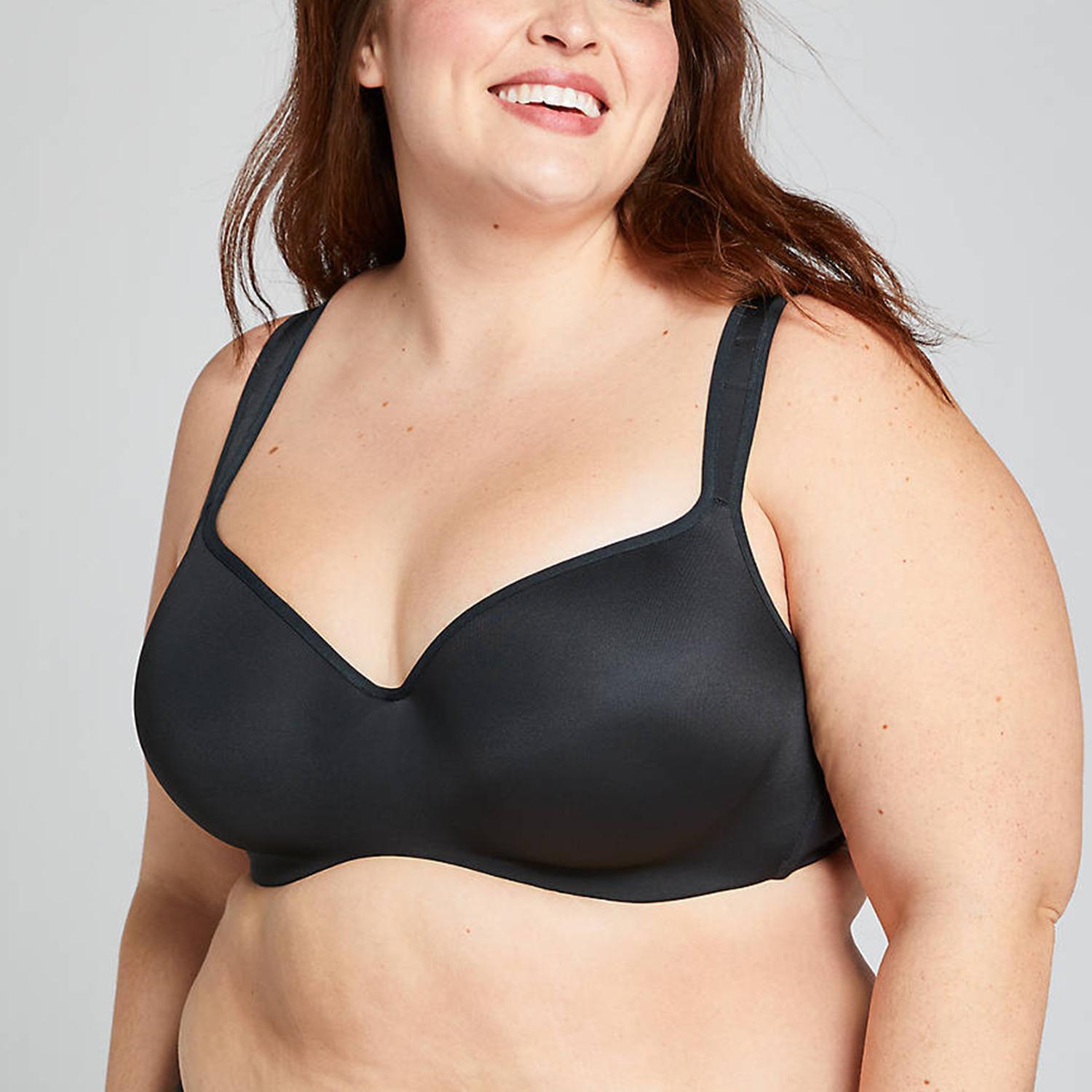 Smooth Lightly Lined Balconette Bra Black
