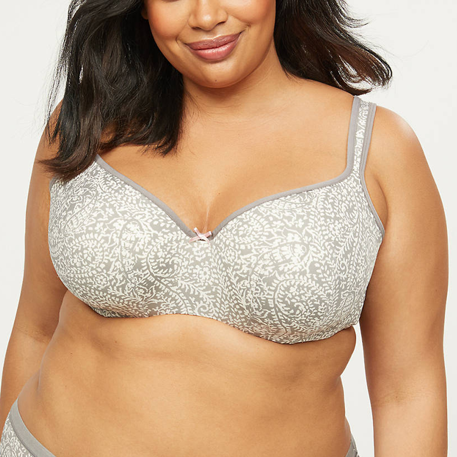 Smooth Lightly Lined Balconette Bra Paisley
