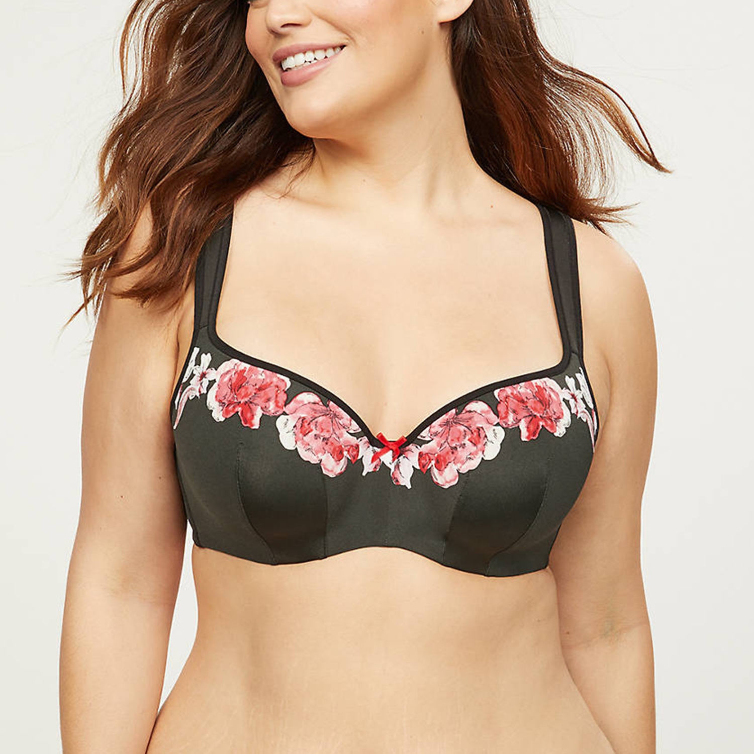 Smooth Lightly Lined Balconette Bra Romantic Blooms