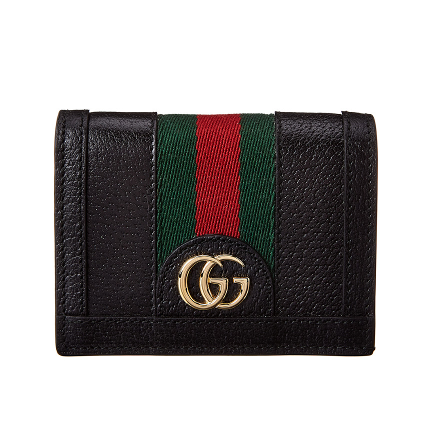 Gucci Ophedia Leather & Supreme Canvas Card Case