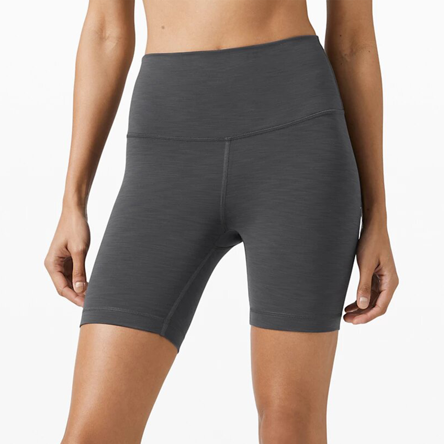 Wunder Train High-Rise Short 6 Heather Grey