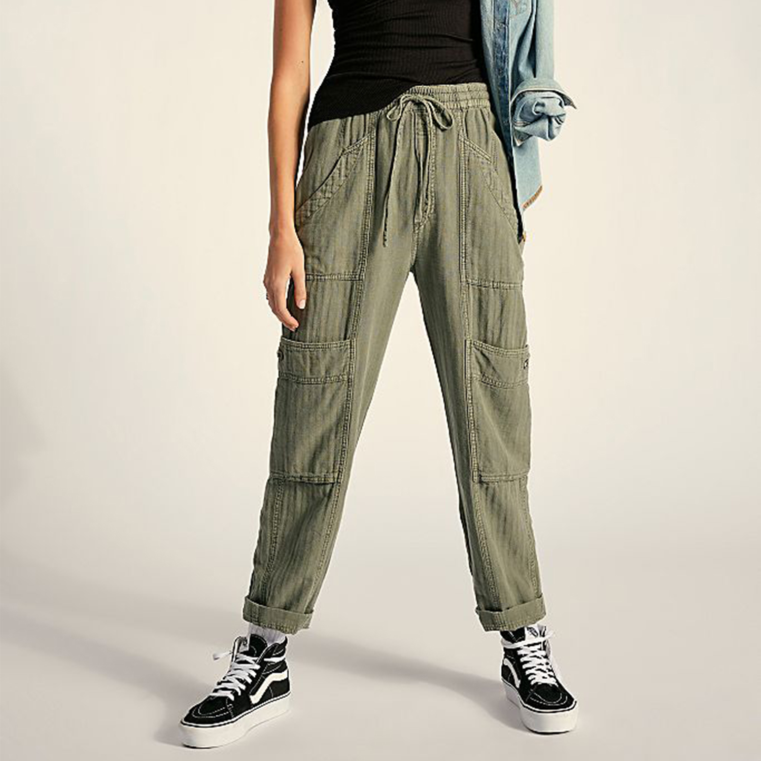 Feelin' Good Utility Pull-On Pants Free People