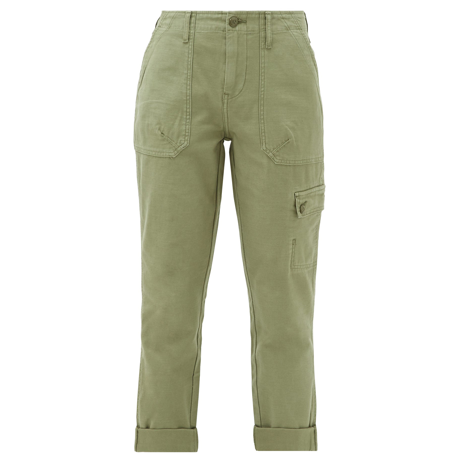 Cropped cotton cargo trousers Frame