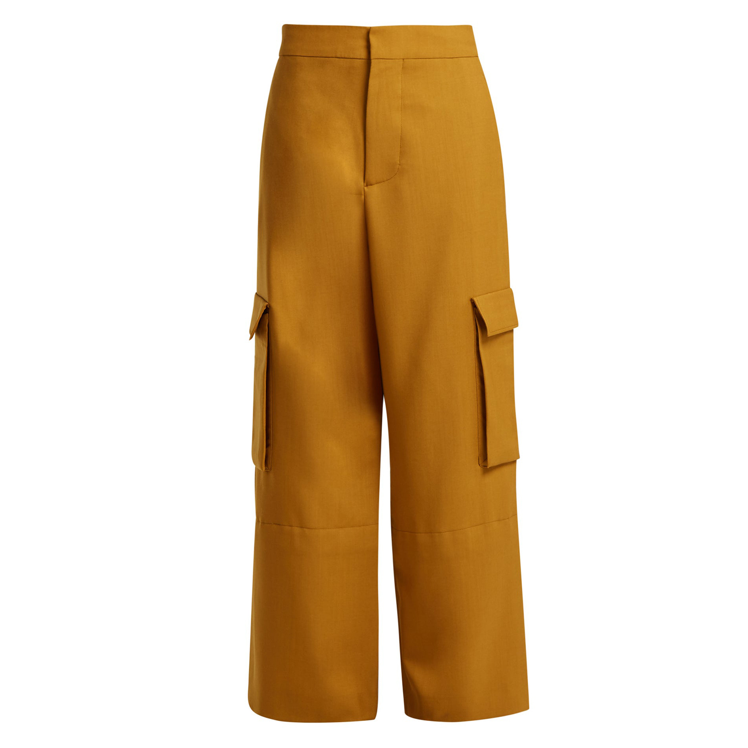 High-rise cargo wool trousers Marni