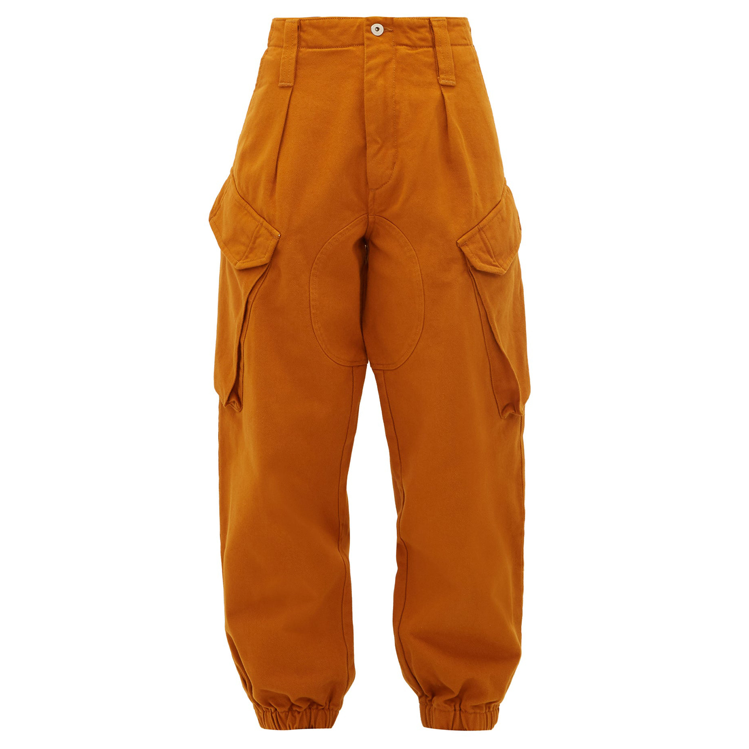 High-rise cropped denim cargo trousers Marques'Almeida