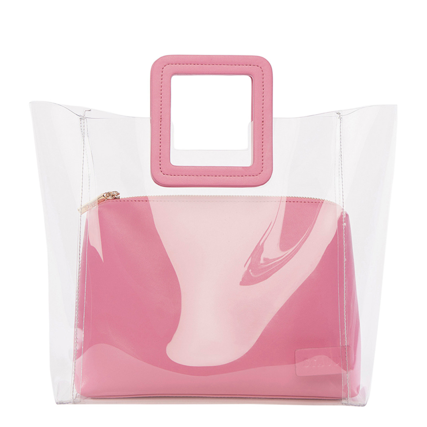 STAUD Shirley Leather Bag Pink