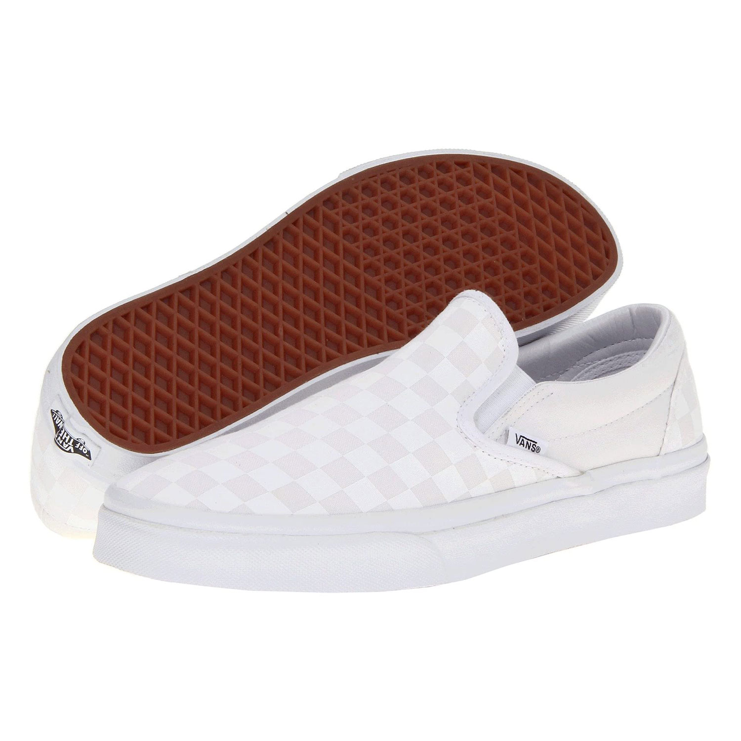 Vans Classic Slip-On Core Classics Checkered White and White