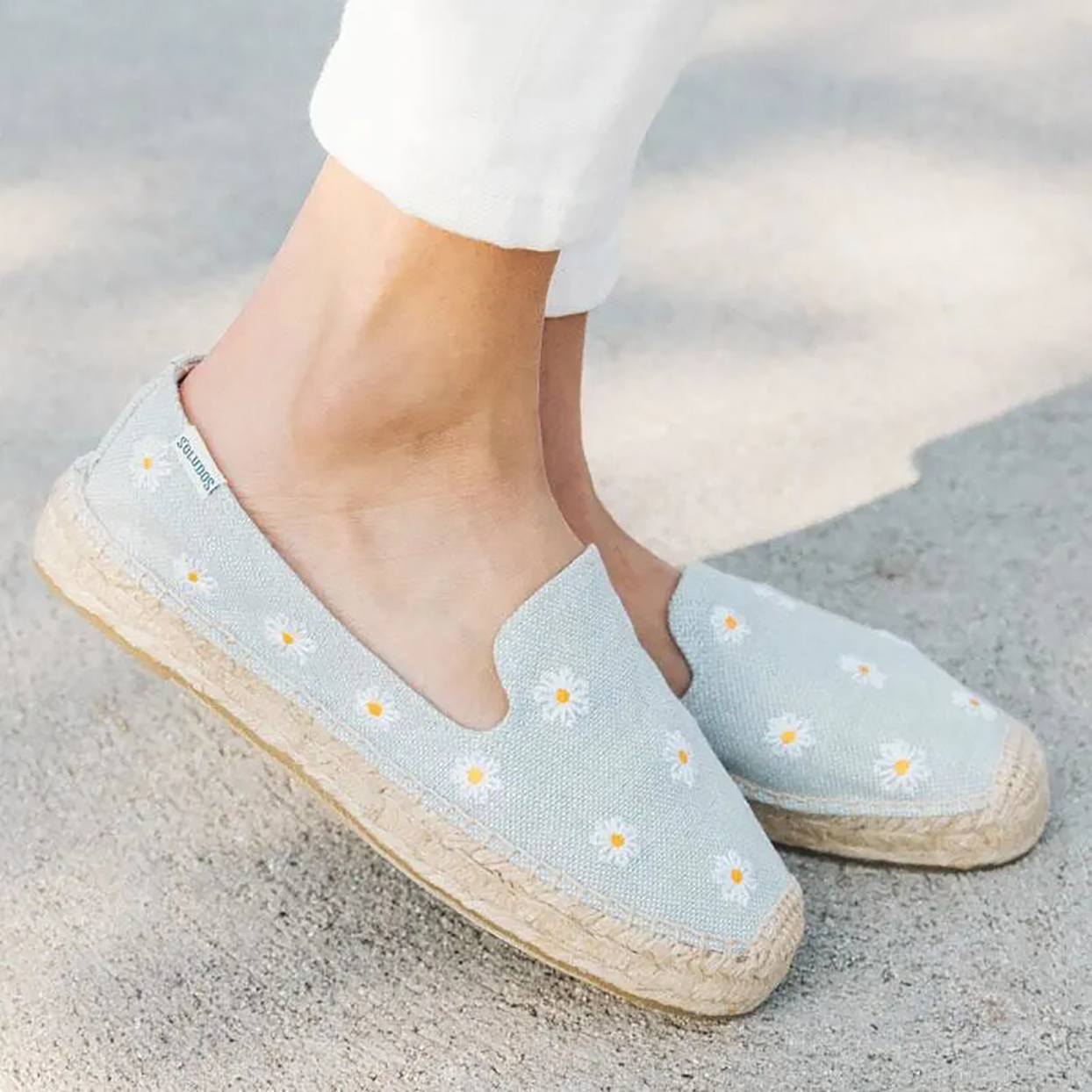 Soludos Daisies Embroidered Espadrille