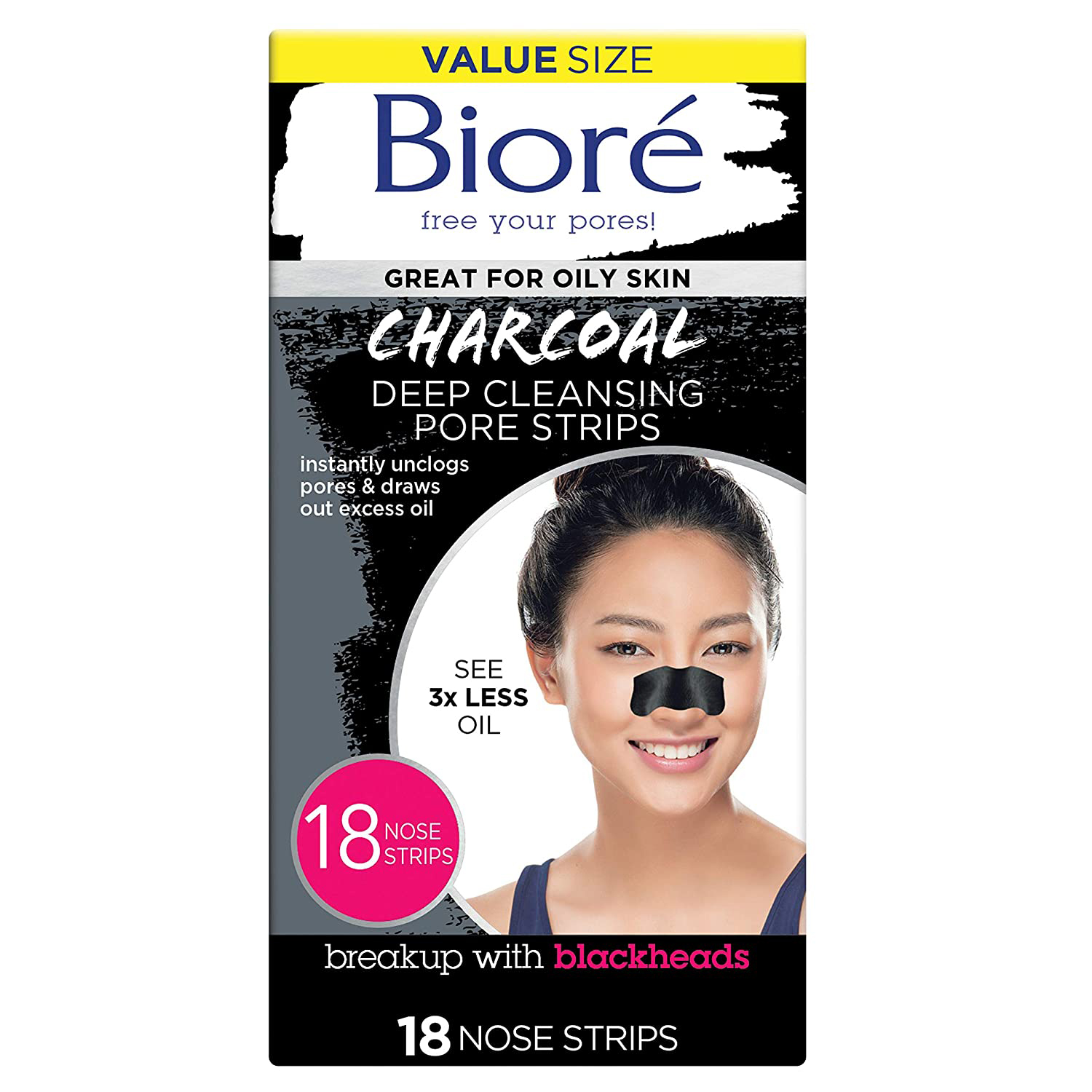 Deep Cleansing 18 Nose Strips for Blackhead Removal
