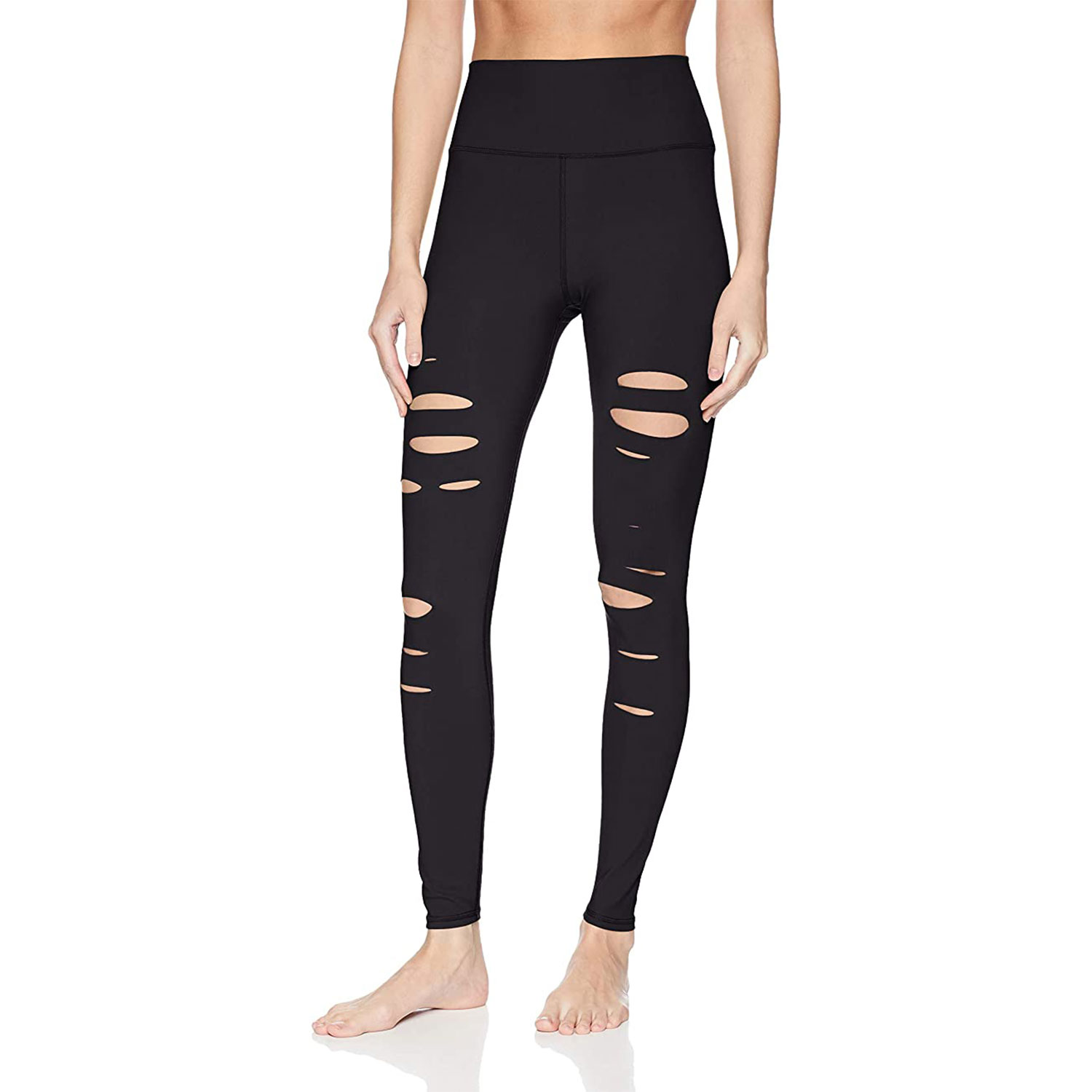 alo yoga women's high-waisted ripped warrior legging