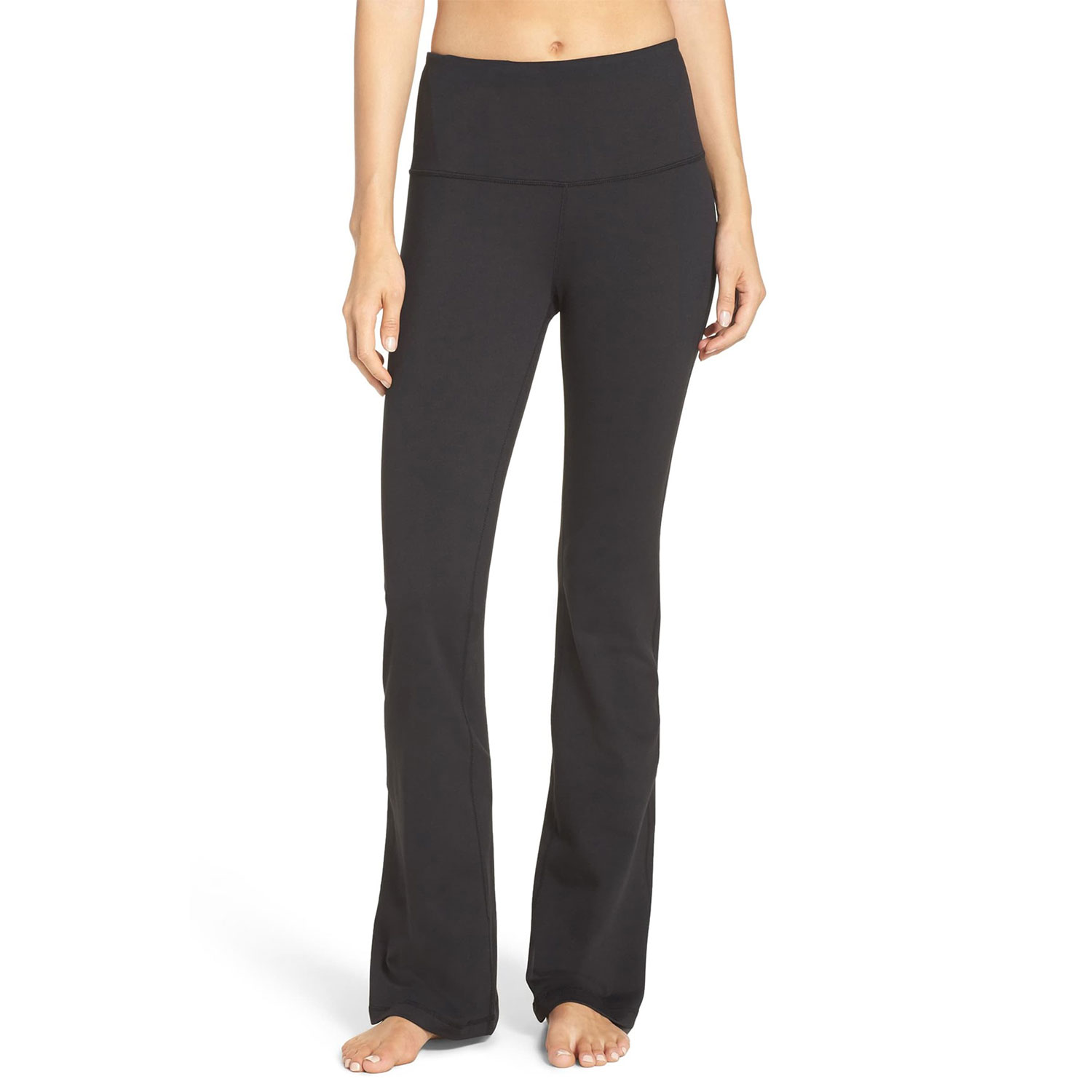 barely flare high waist pants