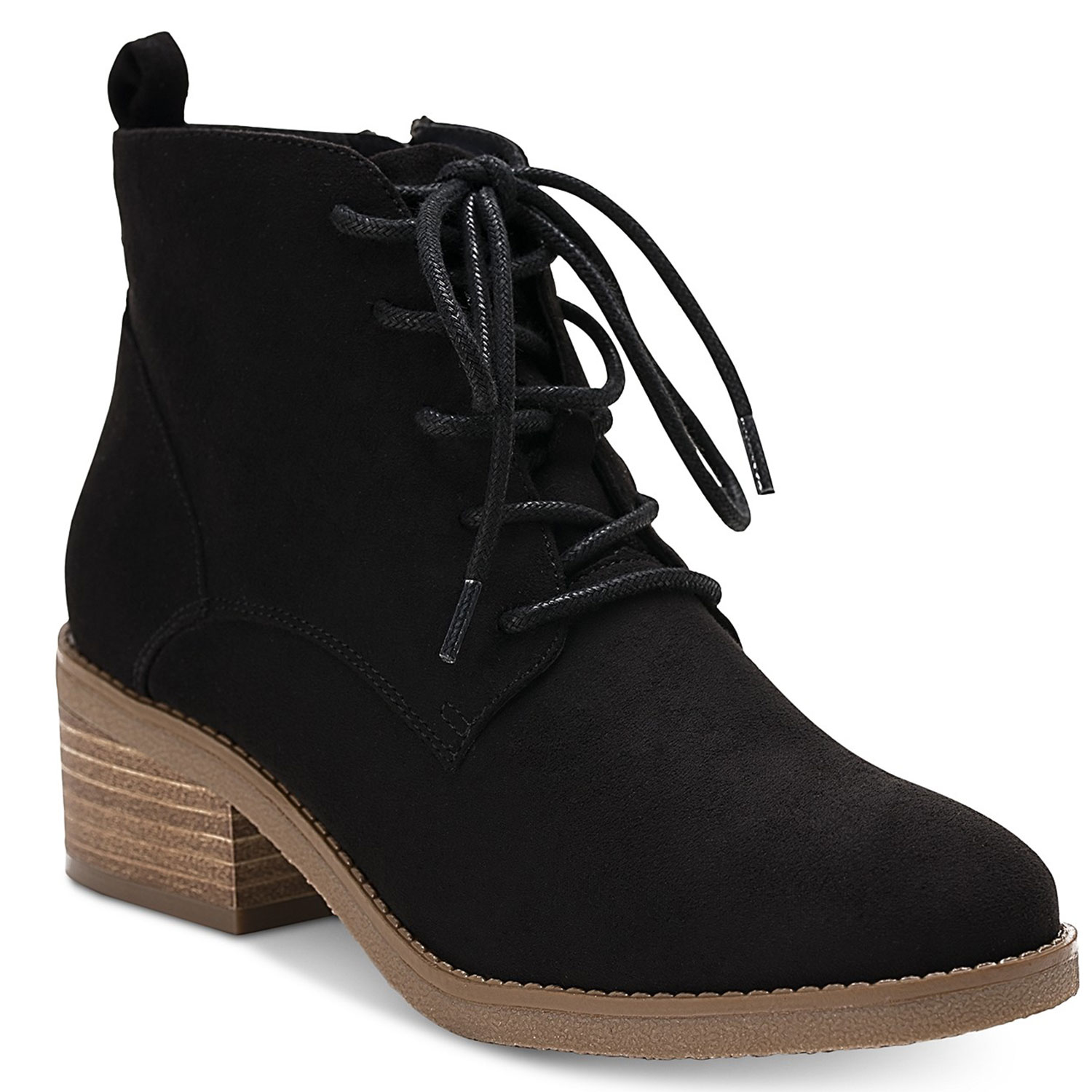 rizio lace up ankle booties