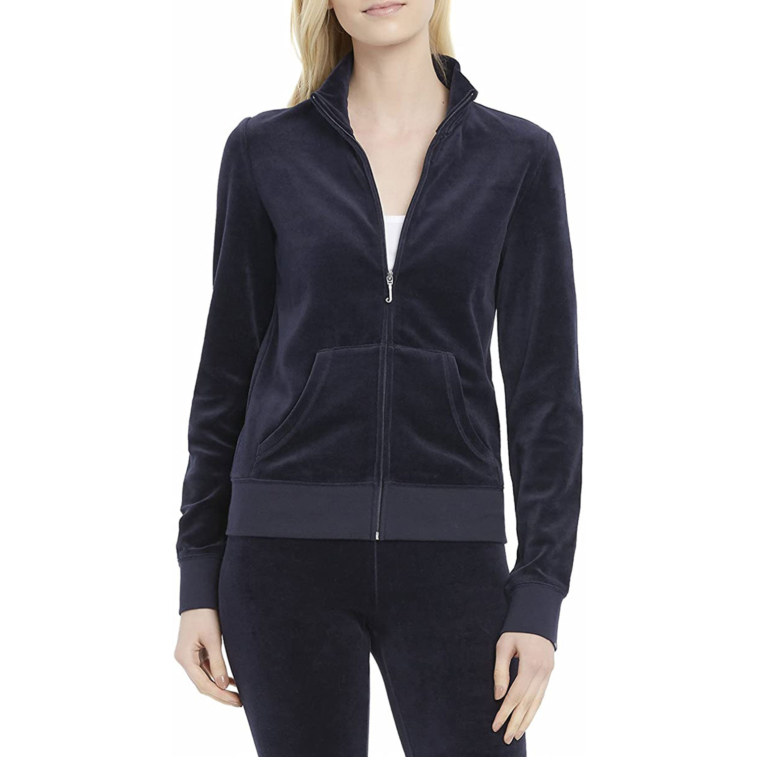 juicy couture black label velour fitted jacket