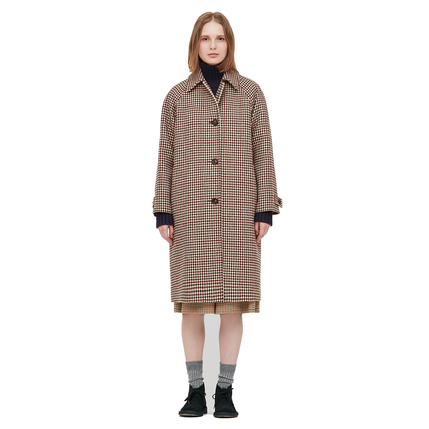 women's soutien collar coat
