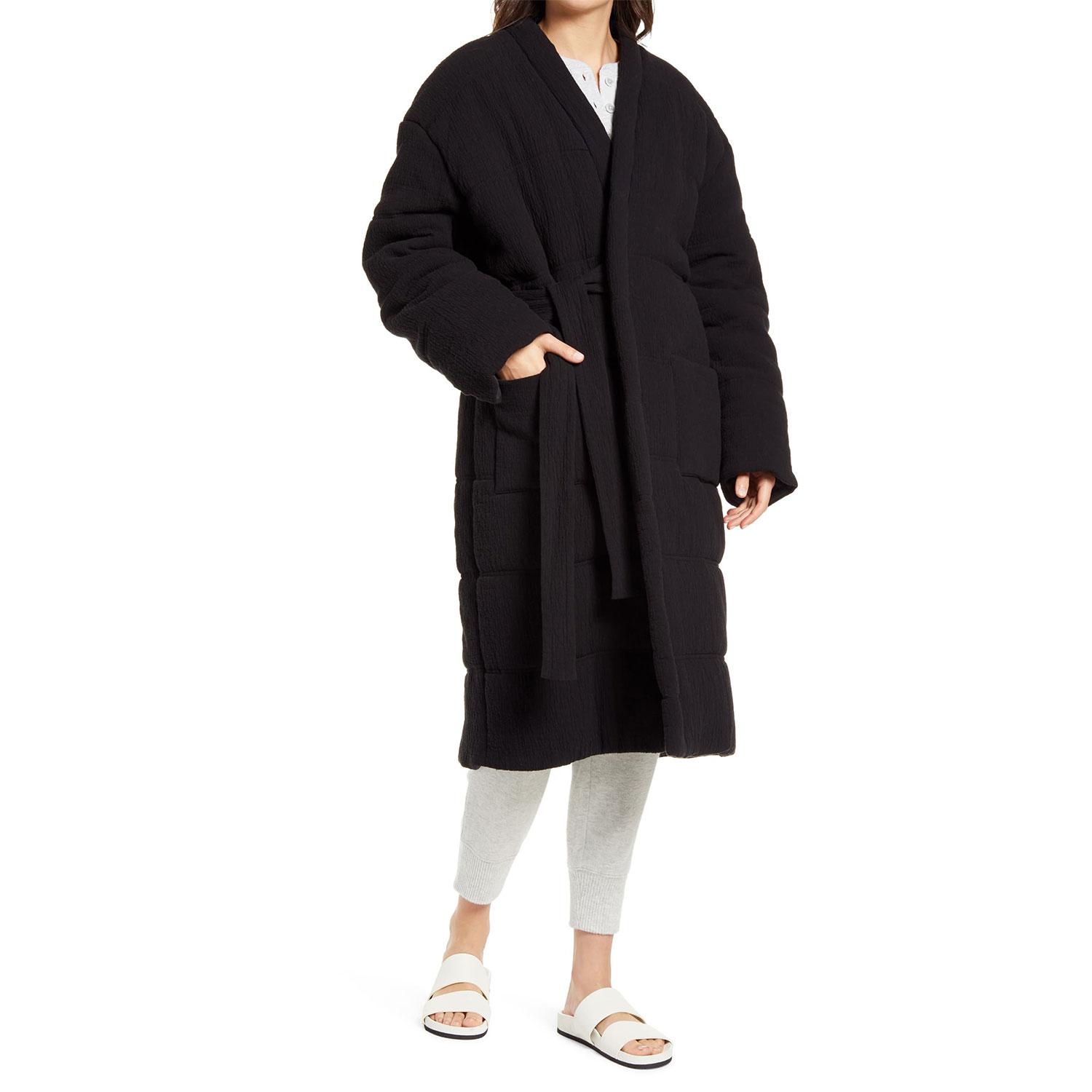 nordstrom homecoat unisex quilted cotton lounge coat
