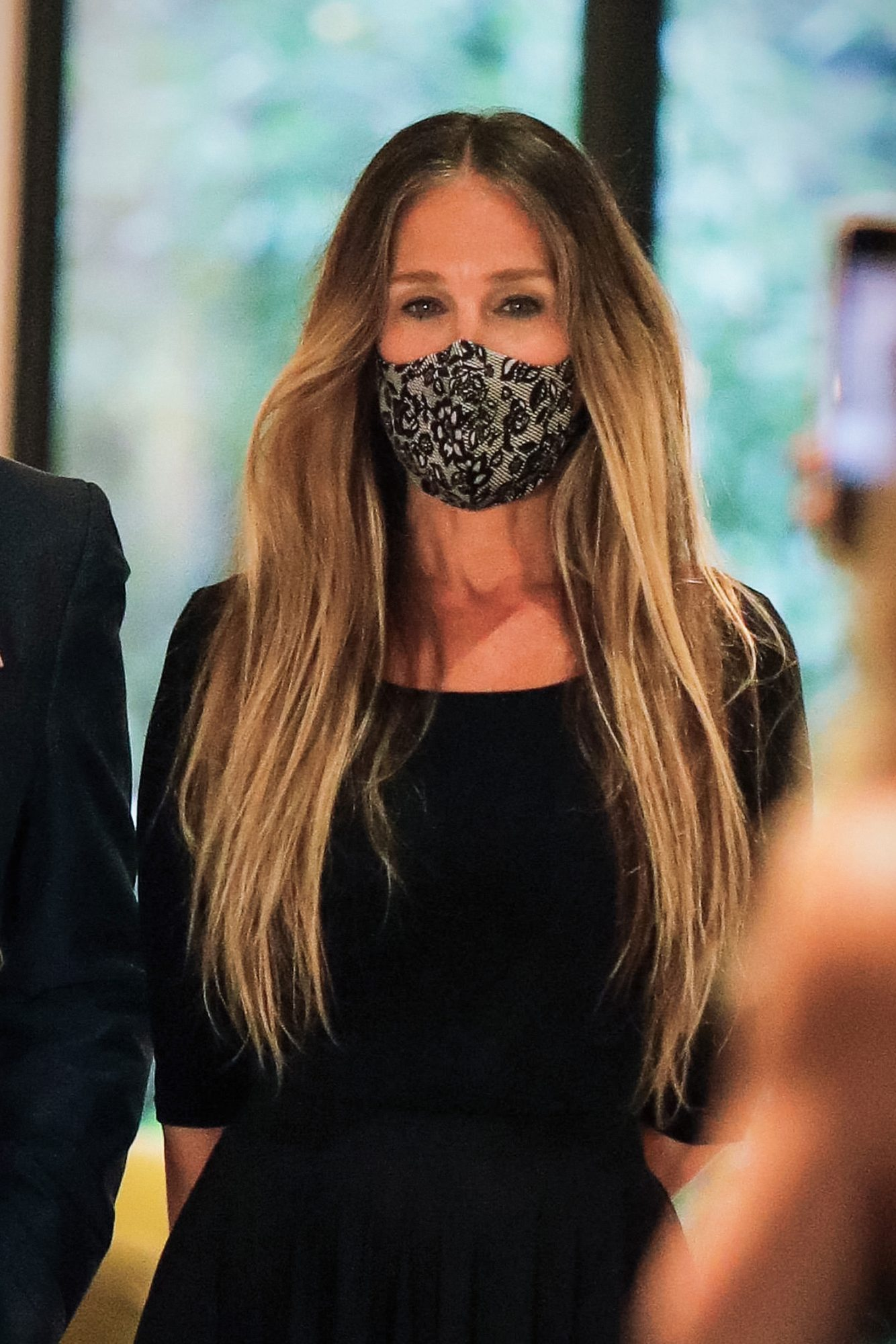 Sarah Jessica Parker Wears Wolford Mask