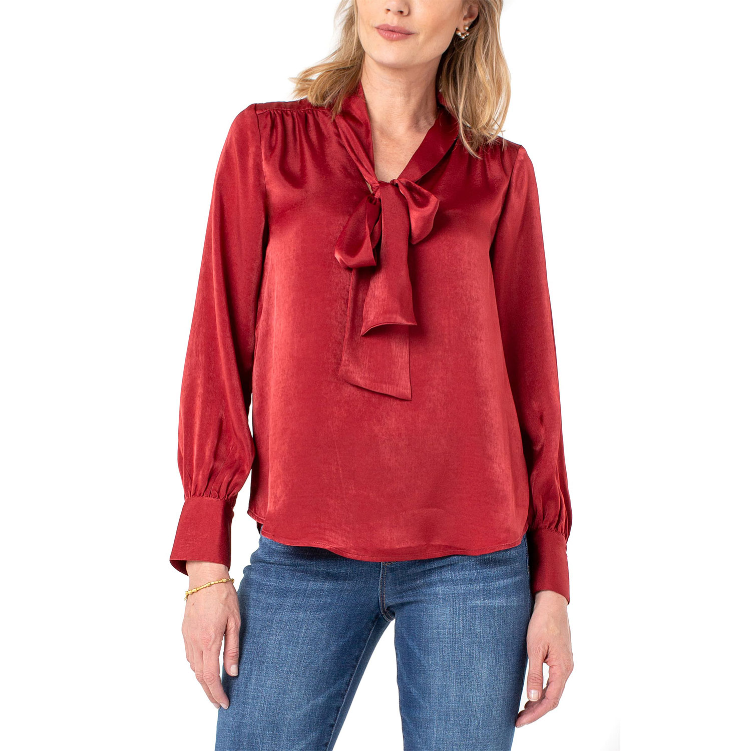 liverpool tie neck blouse