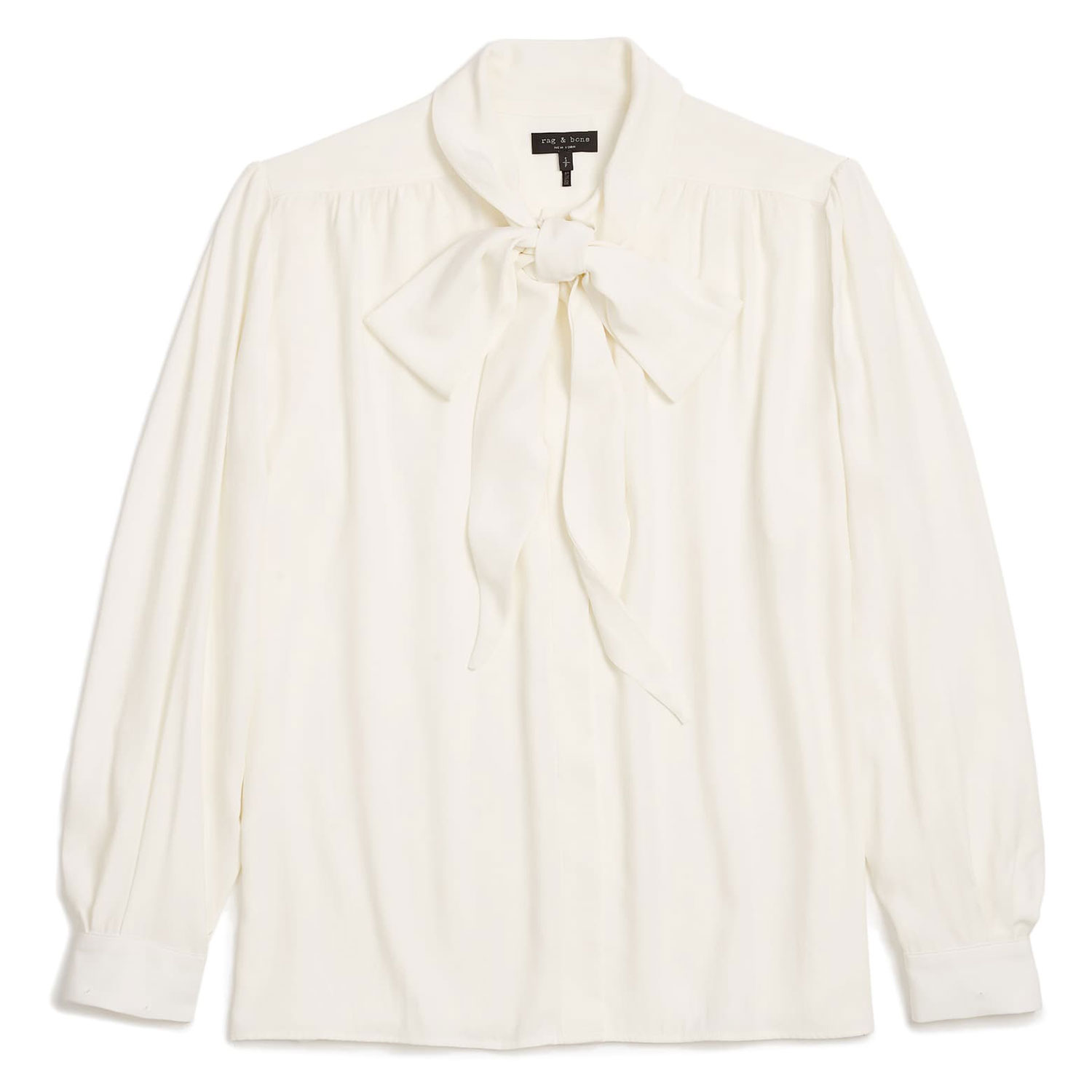 rag bone barbara tie neck silk blouse
