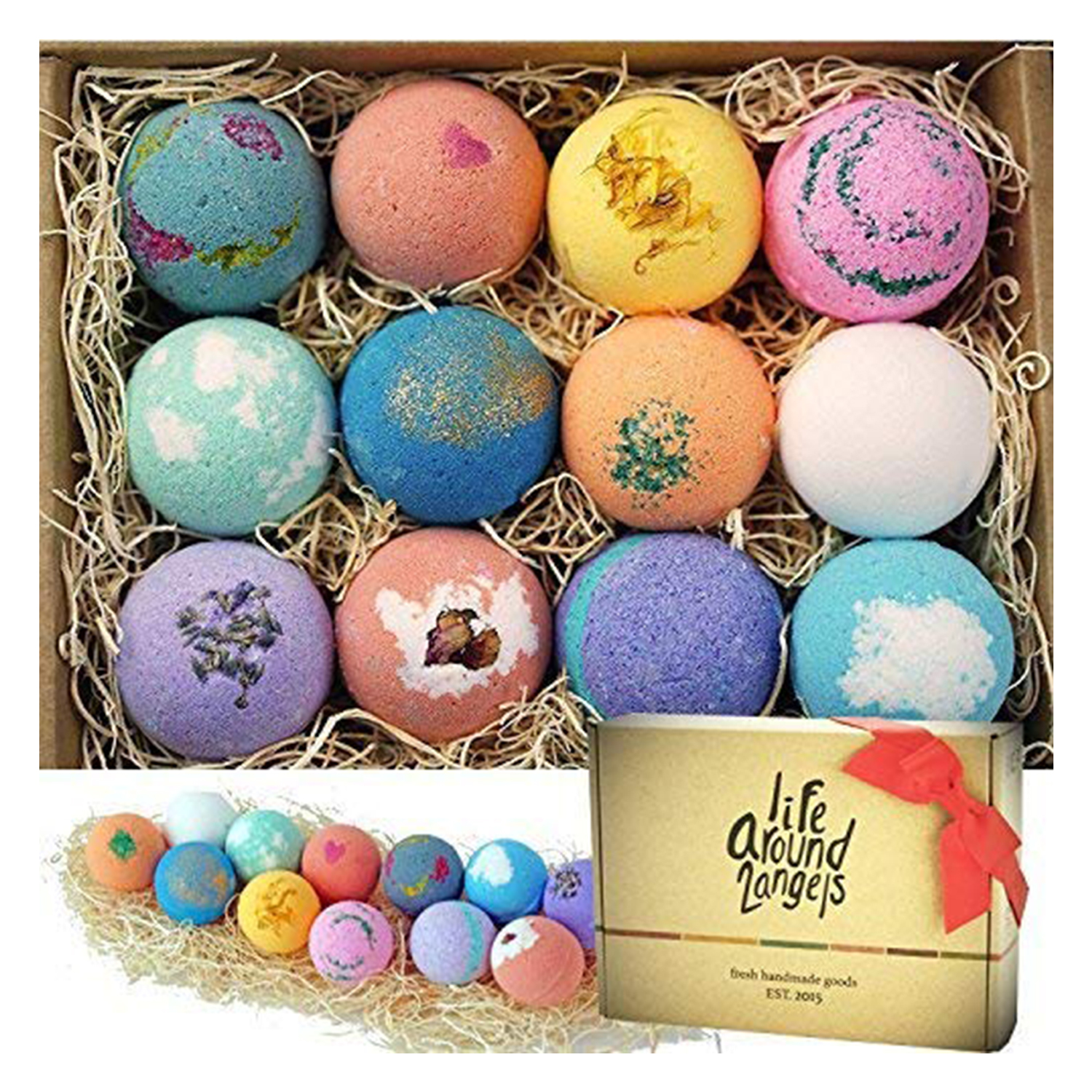 lifearound bath bombs gift set usa made fizzies