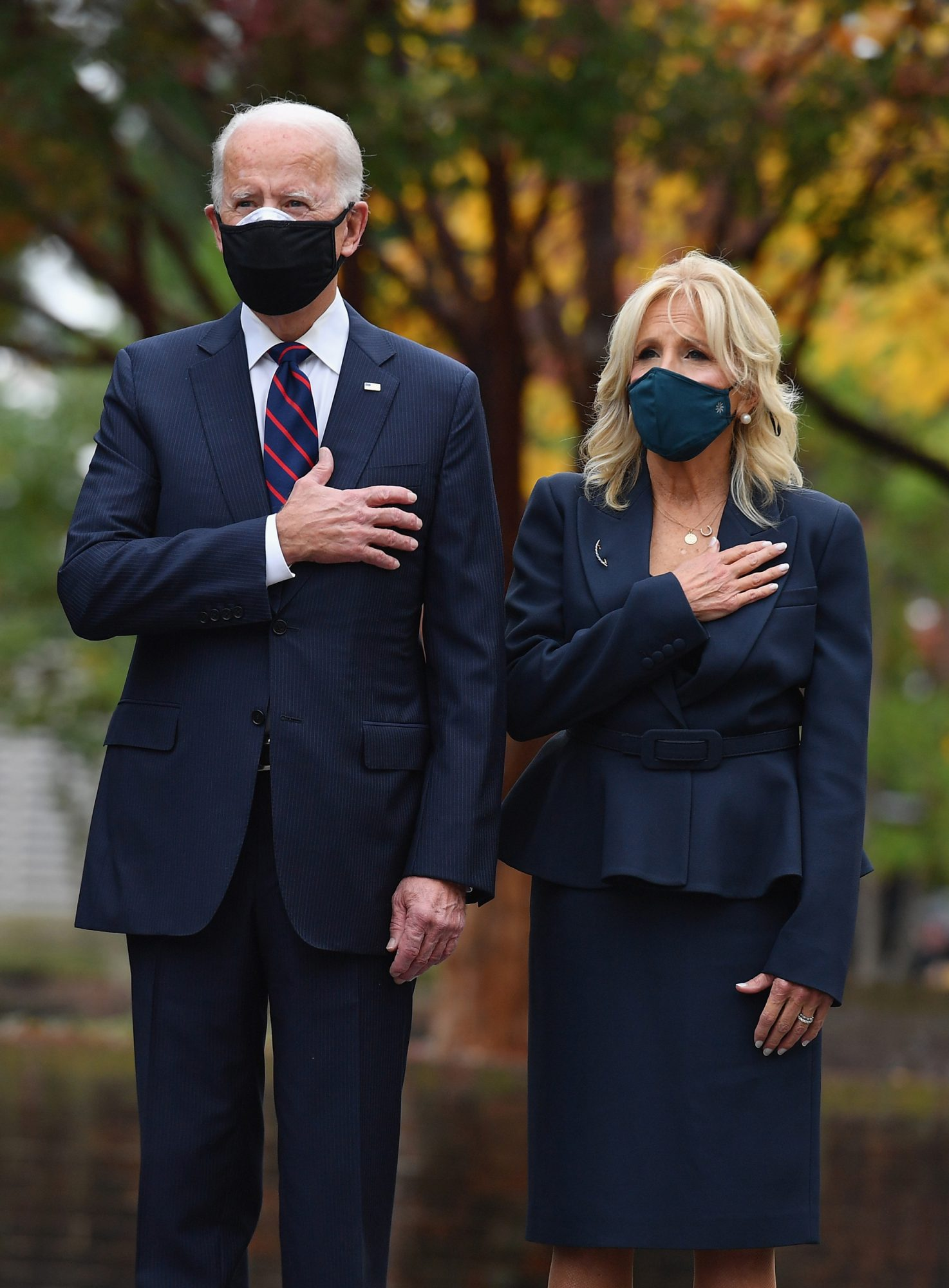 ECOMM: Jill Biden in Athleta Face Mask