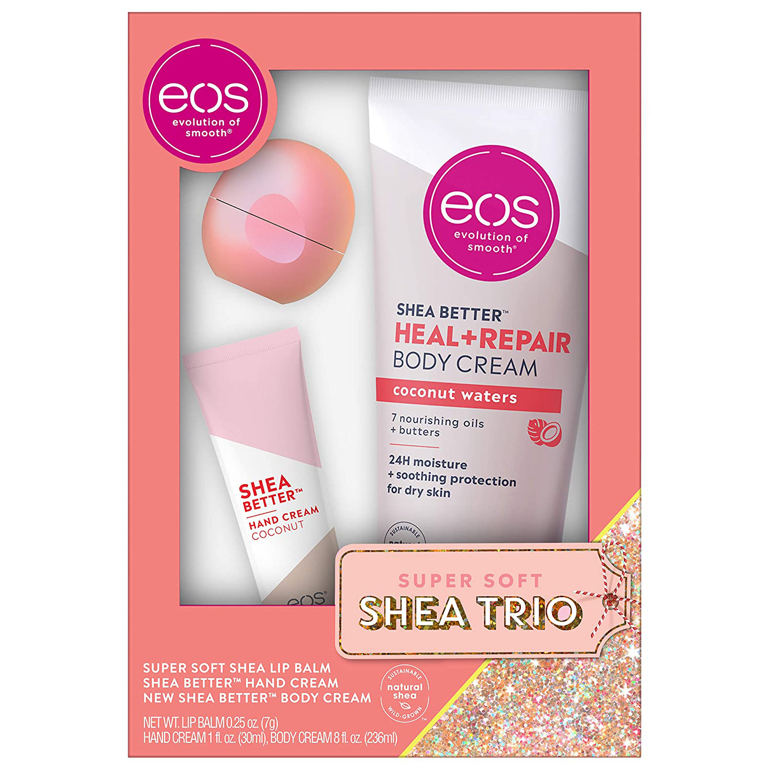eos lip balm hand body lotion