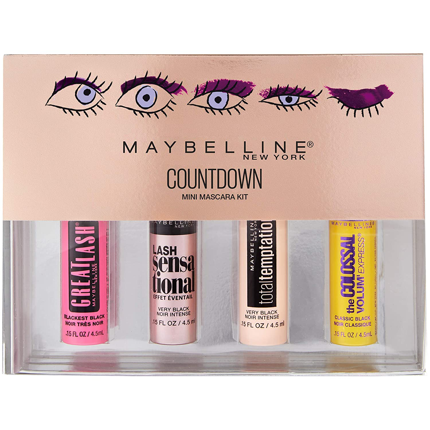maybelline new york makeup countdown holiday mascara kit