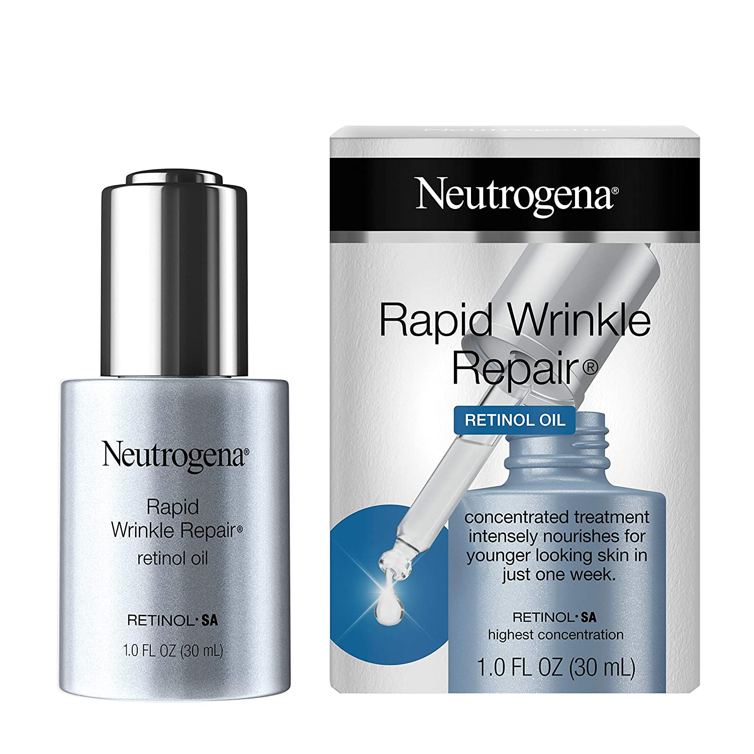 Neutrogena Rapid Wrinkle Repair Anti-Wrinkle Retinol Face Serum Oil