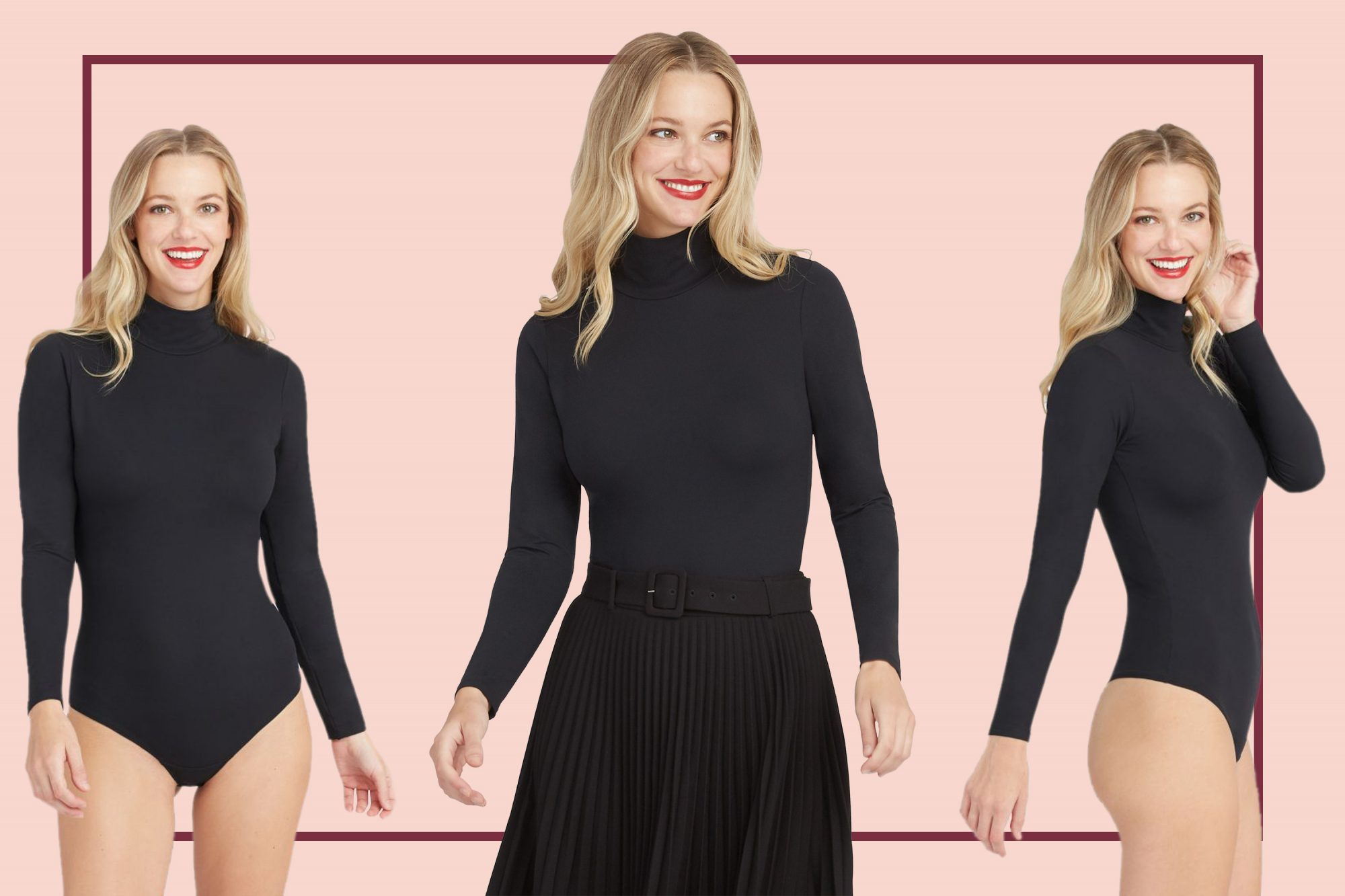 spanx turtleneck thong bodysuit