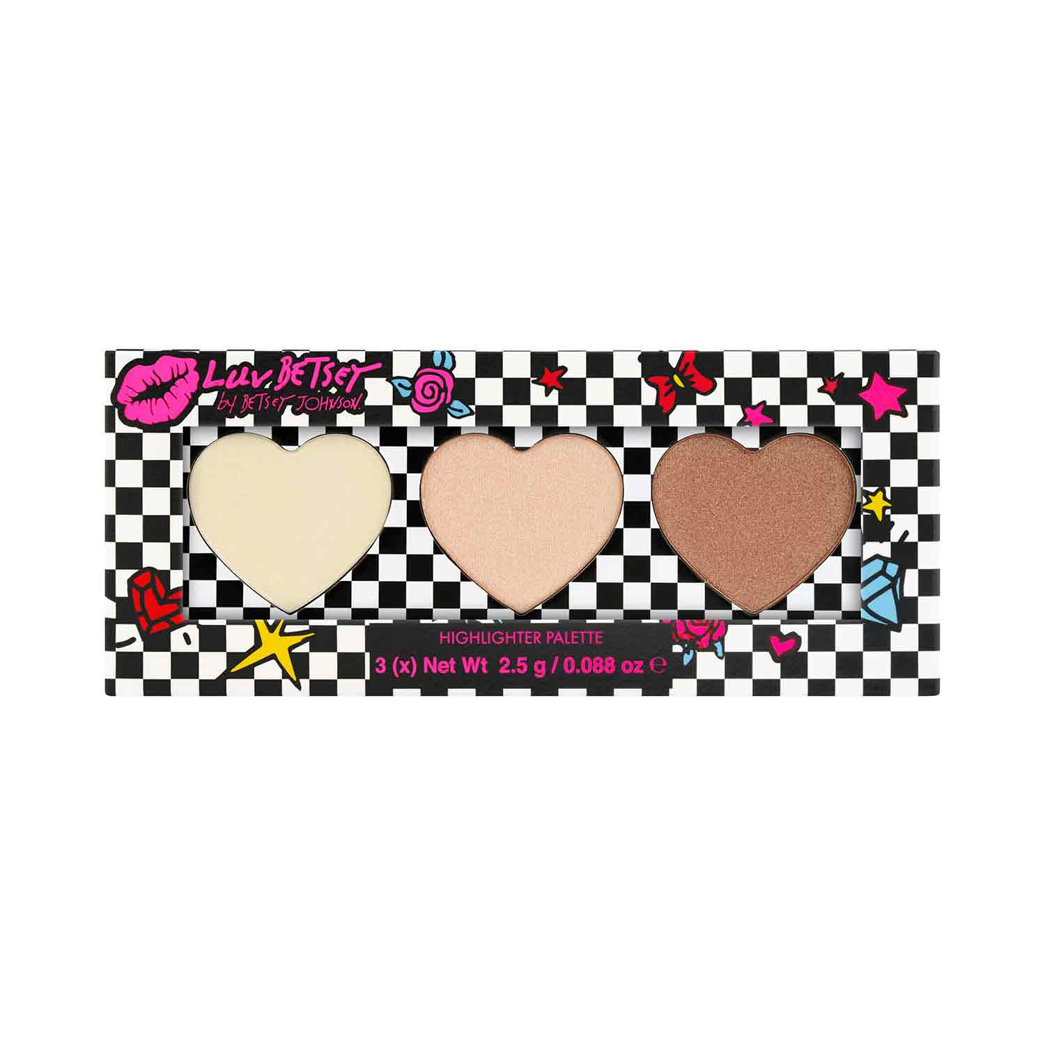 LUV BETSEY COSMETICS 3 Shade Highlighter Palette