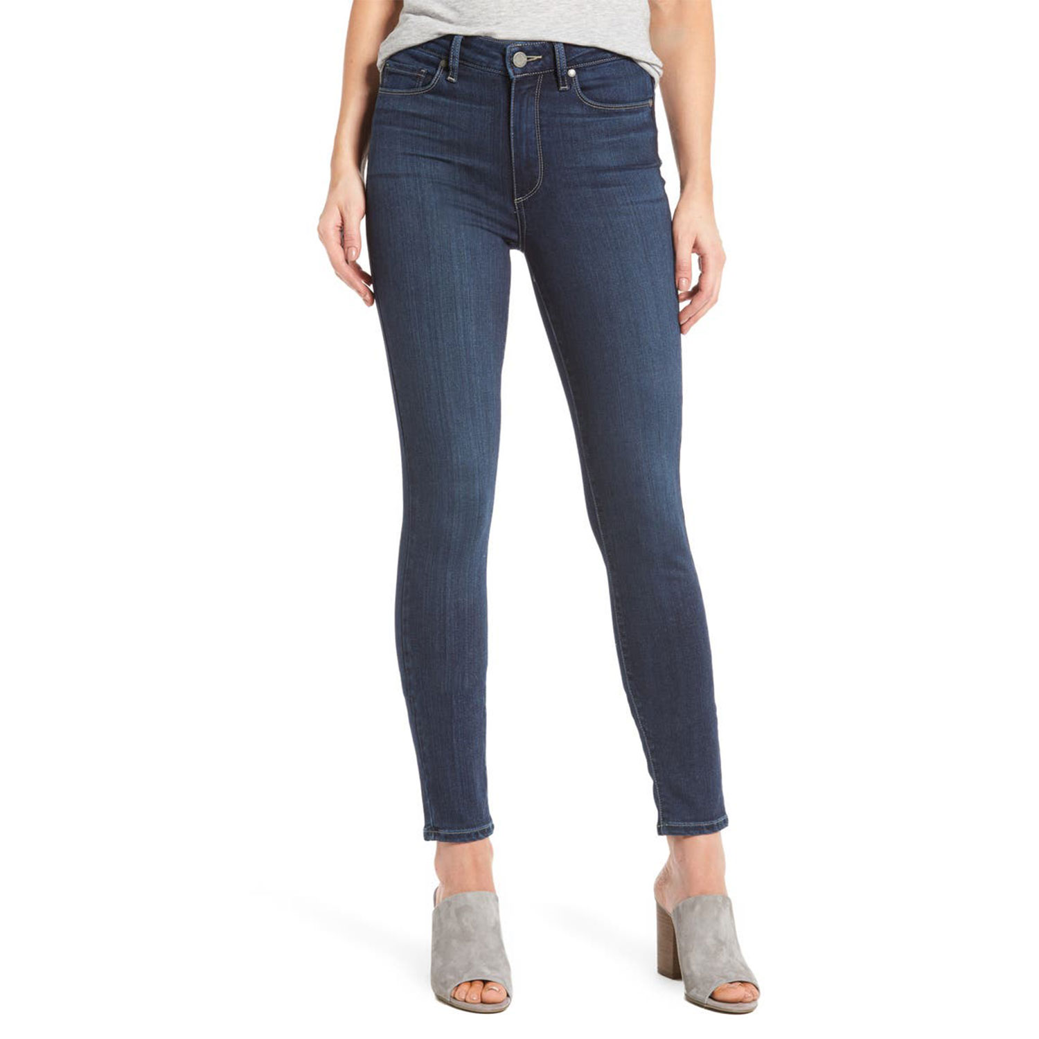 transcend hoxton high waist ankle skinny jeans