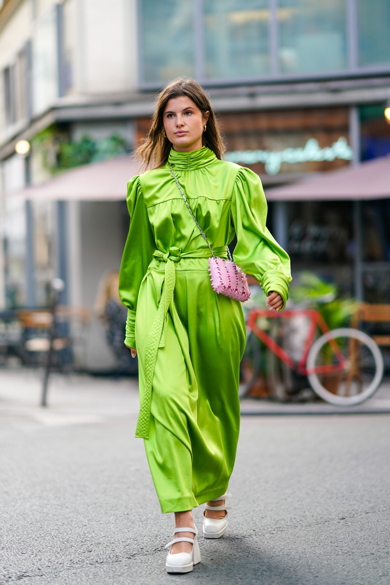 As in, just throw on a green dress. Boom — easy, especially if you skip accessories. Also, if you opt for a maxi, remember it can double as a blanket.