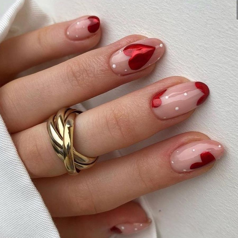 Valentine's Day Nail Art by Zodiac Sign