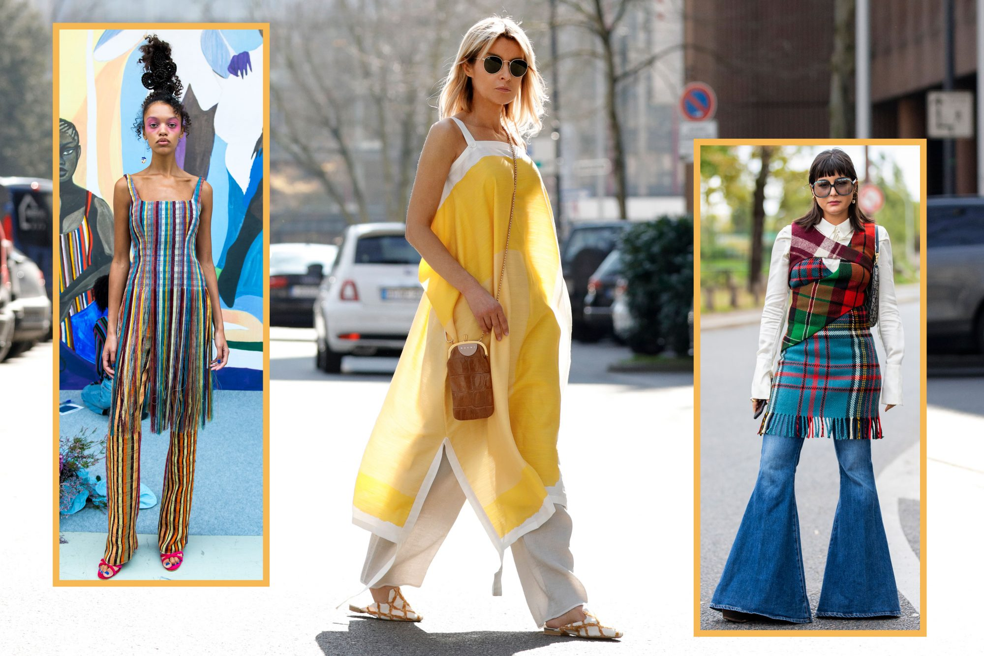 The Dress Over Pants Trend Is Officially Happening
