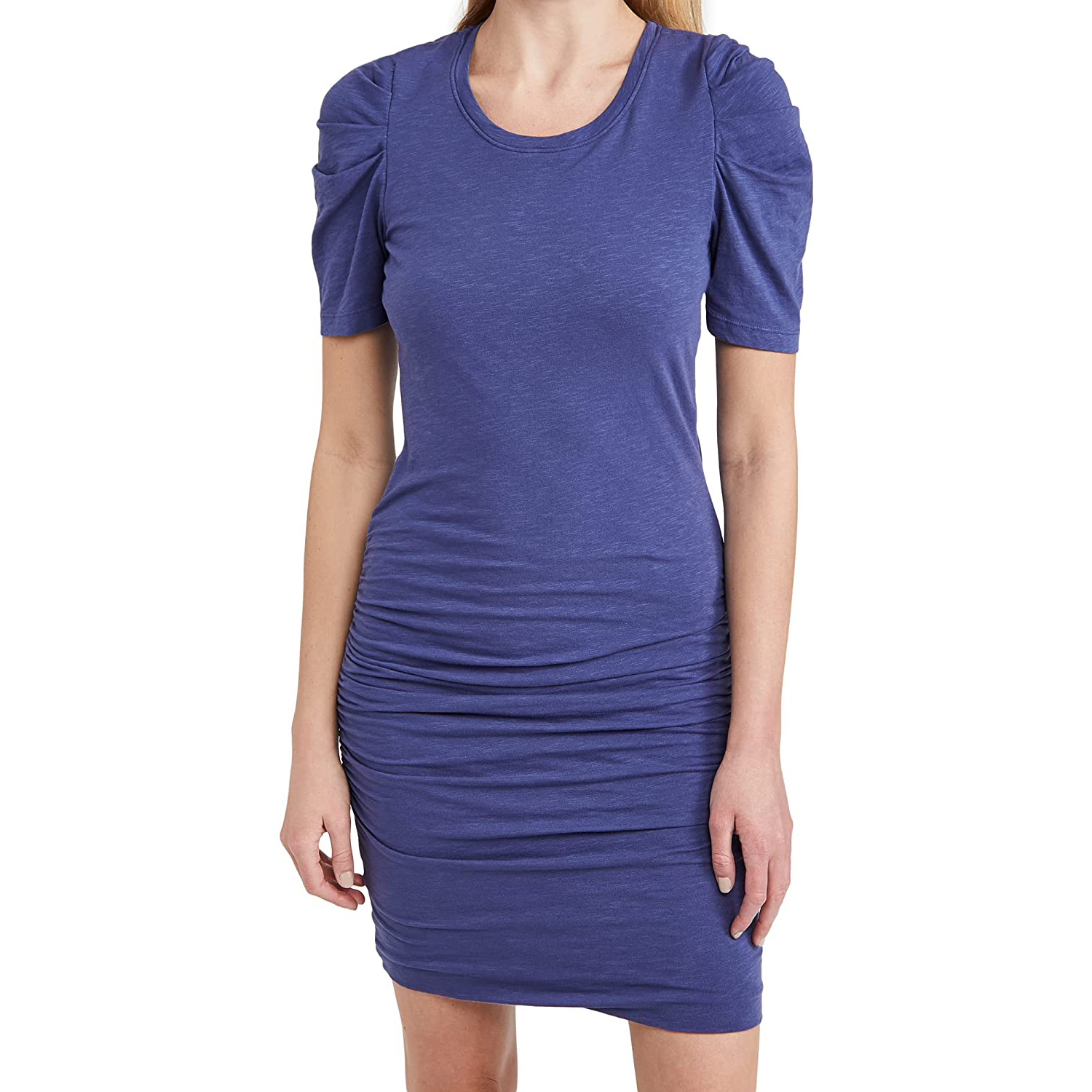 Dress with shirs