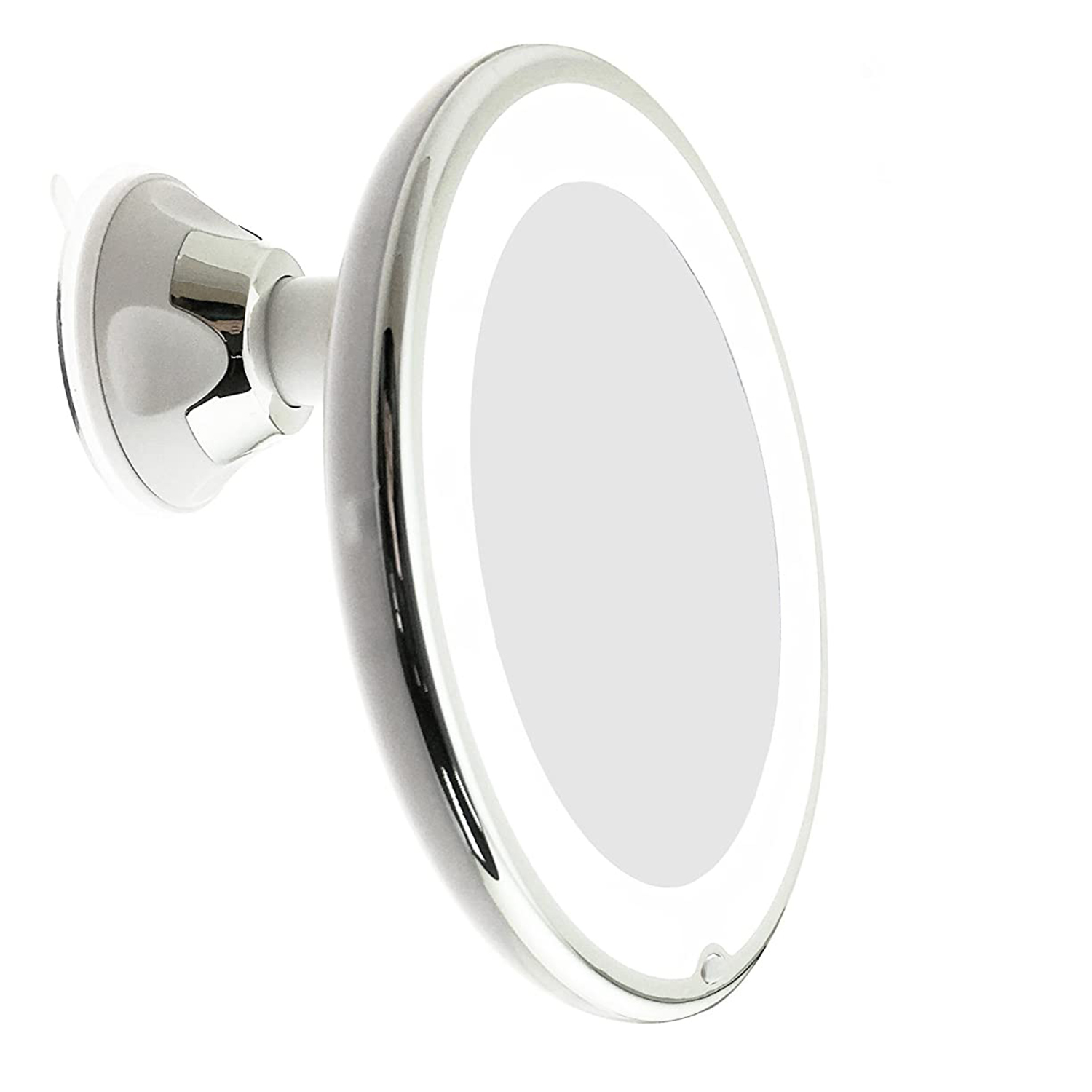 JiBen LED Lighted 10X Magnifying Makeup Mirror with Power Locking Suction Cup