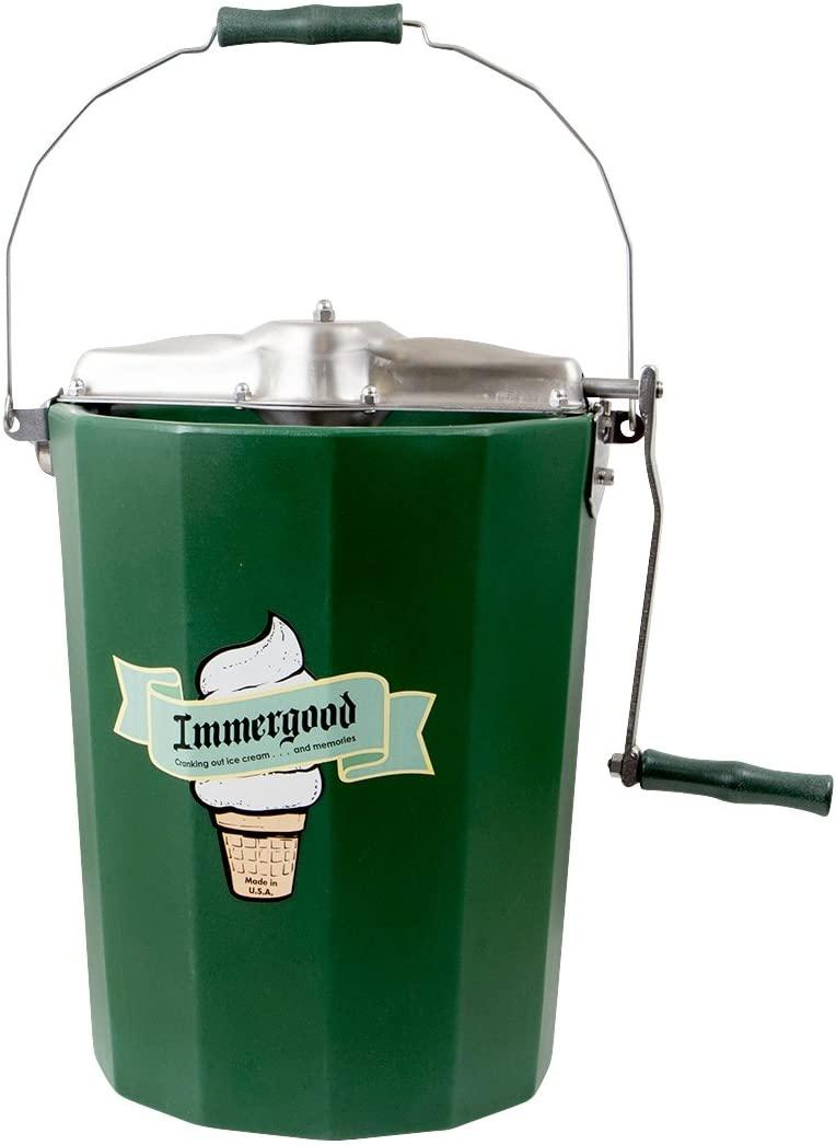 Immergood Stainless Steel Ice Cream Maker - Hand Crank