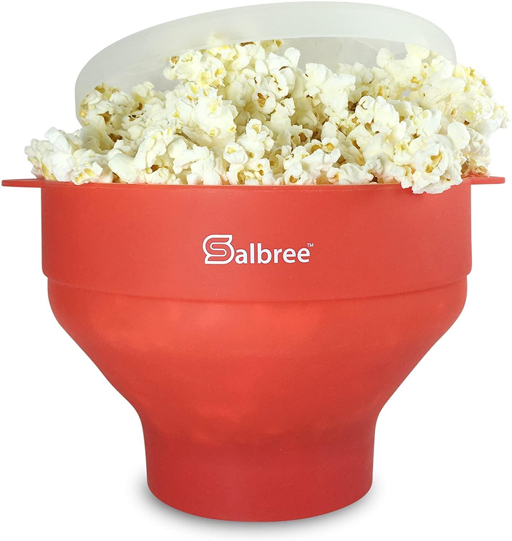 Salbree Original Microwave Popcorn Popper in red