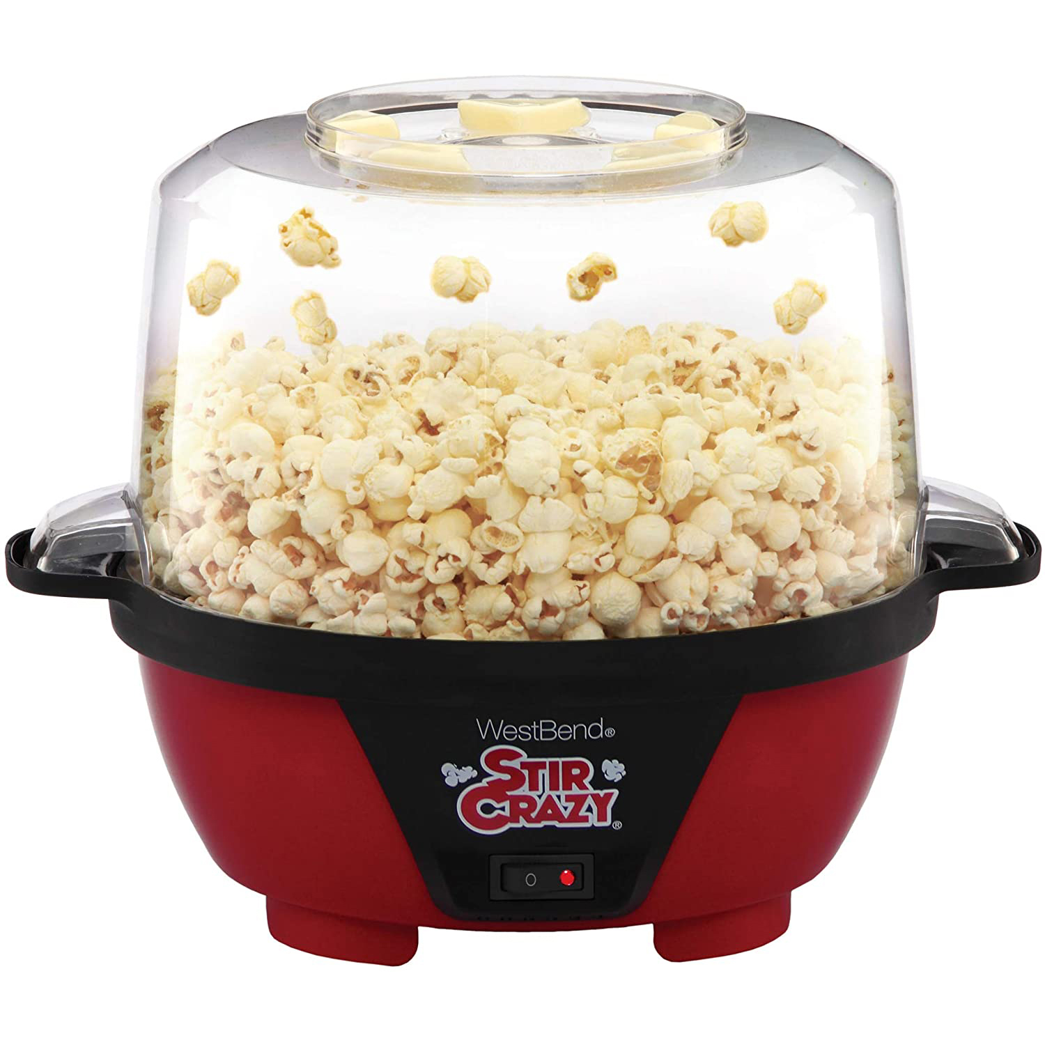 West Bend Stir Crazy Electric Hot Oil Popcorn Popper with a white background