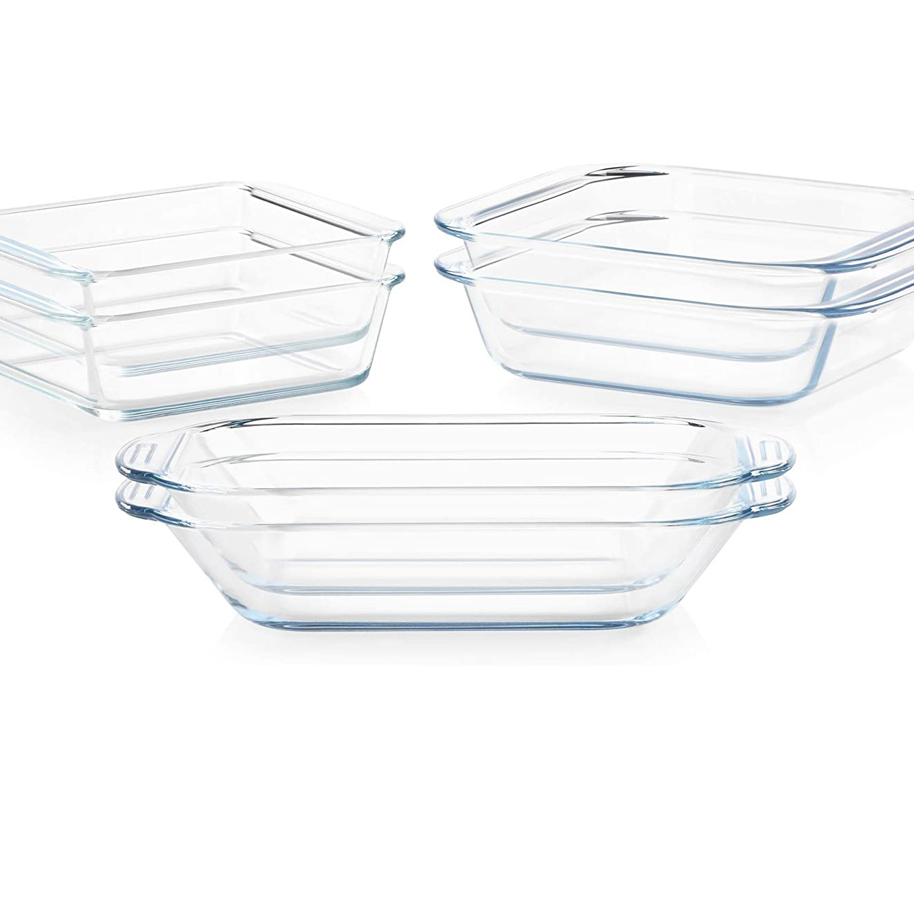 Pyrex Littles Toaster Oven Cookware on a white background